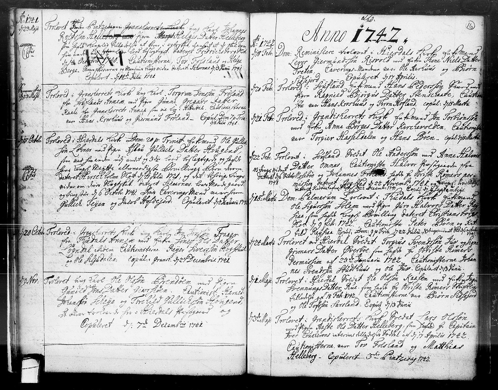 SAKO, Hjartdal kirkebøker, F/Fa/L0004: Ministerialbok nr. I 4, 1727-1795, s. 16