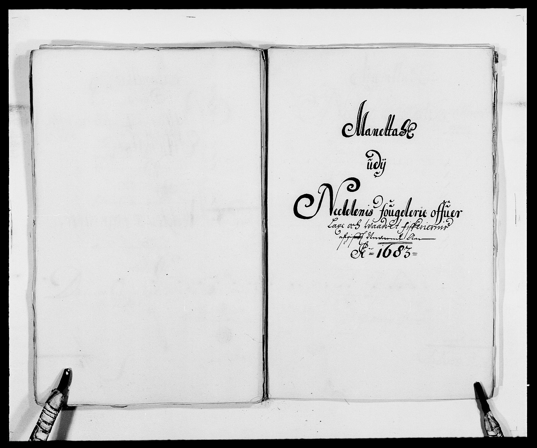 RA, Rentekammeret inntil 1814, Reviderte regnskaper, Fogderegnskap, R39/L2305: Fogderegnskap Nedenes, 1683, s. 312