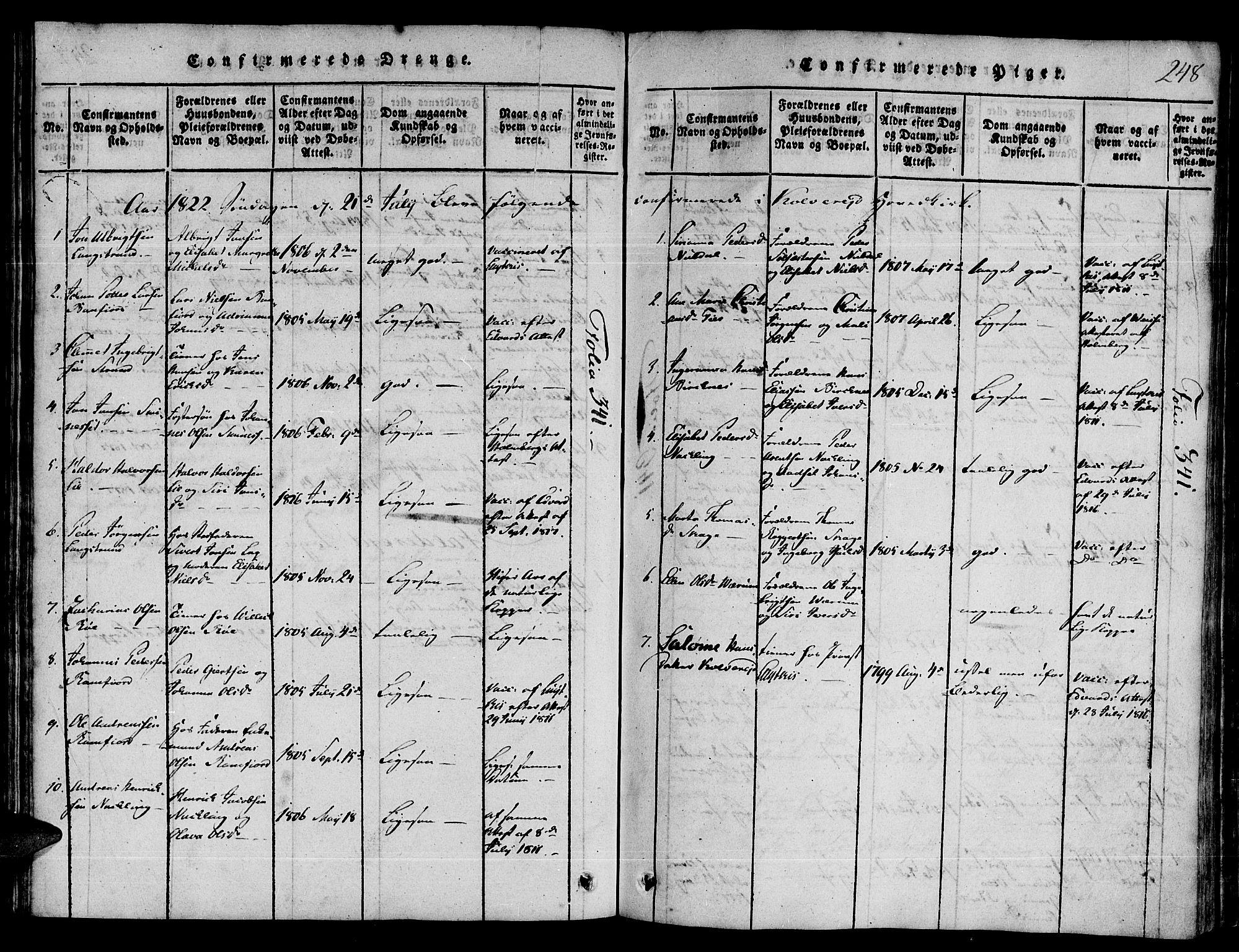 SAT, Ministerialprotokoller, klokkerbøker og fødselsregistre - Nord-Trøndelag, 780/L0636: Ministerialbok nr. 780A03 /1, 1815-1830, s. 248