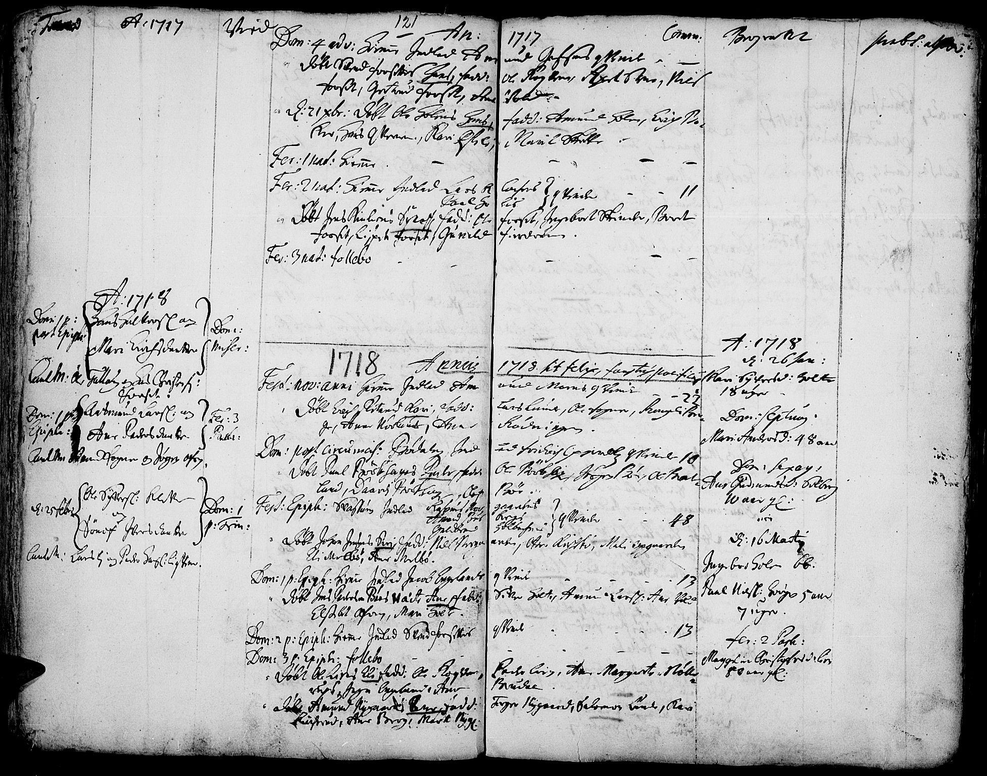 SAH, Gausdal prestekontor, Ministerialbok nr. 1, 1693-1728, s. 121