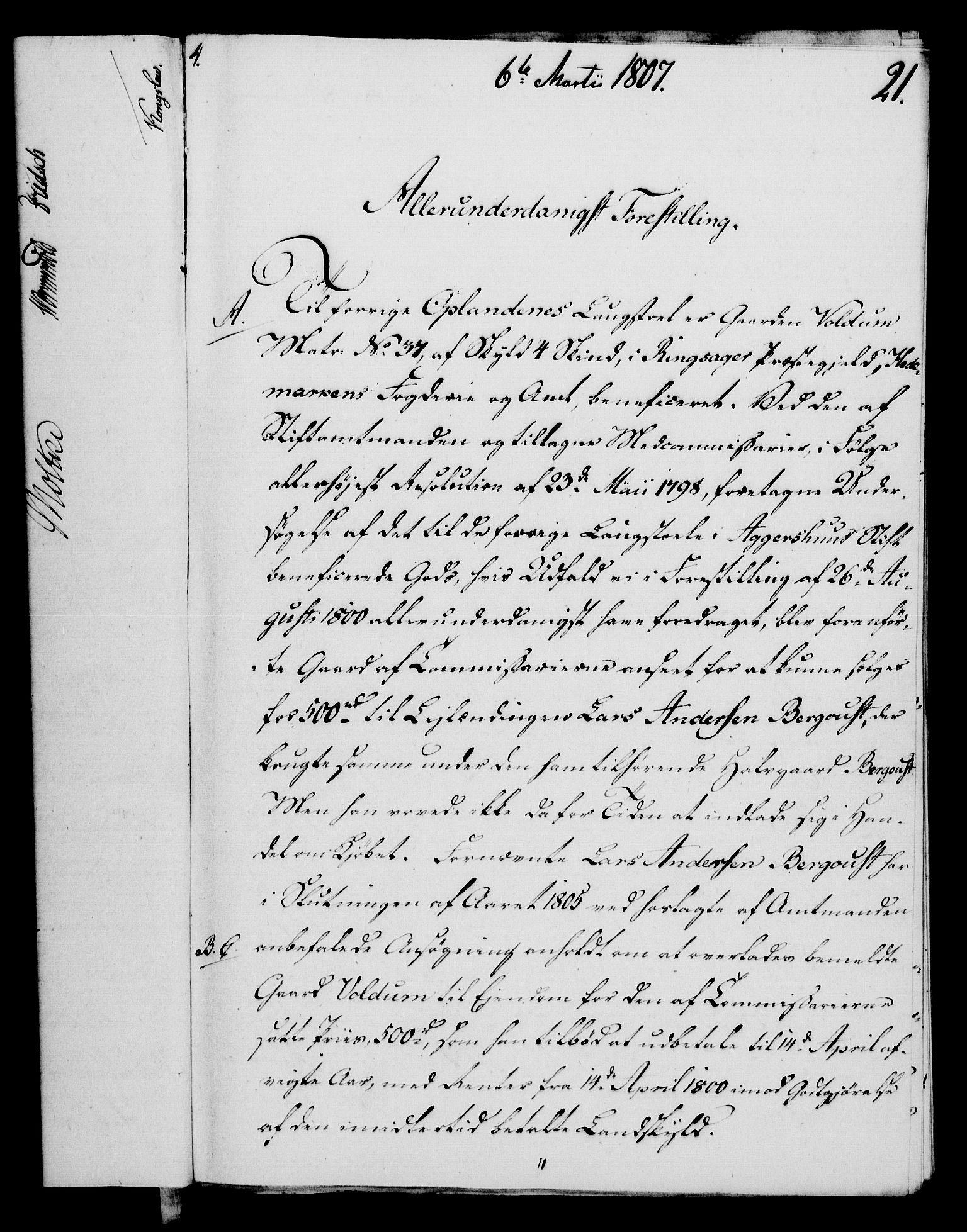 RA, Rentekammeret, Kammerkanselliet, G/Gf/Gfa/L0089: Norsk relasjons- og resolusjonsprotokoll (merket RK 52.89), 1807, s. 154
