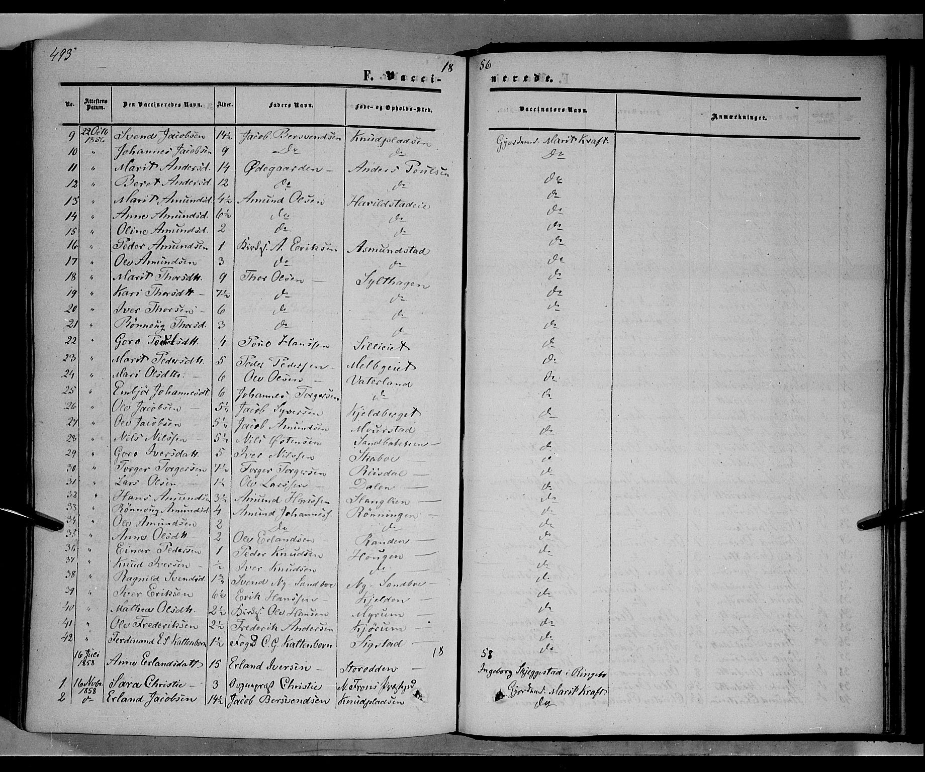 SAH, Nord-Fron prestekontor, Ministerialbok nr. 1, 1851-1864, s. 493
