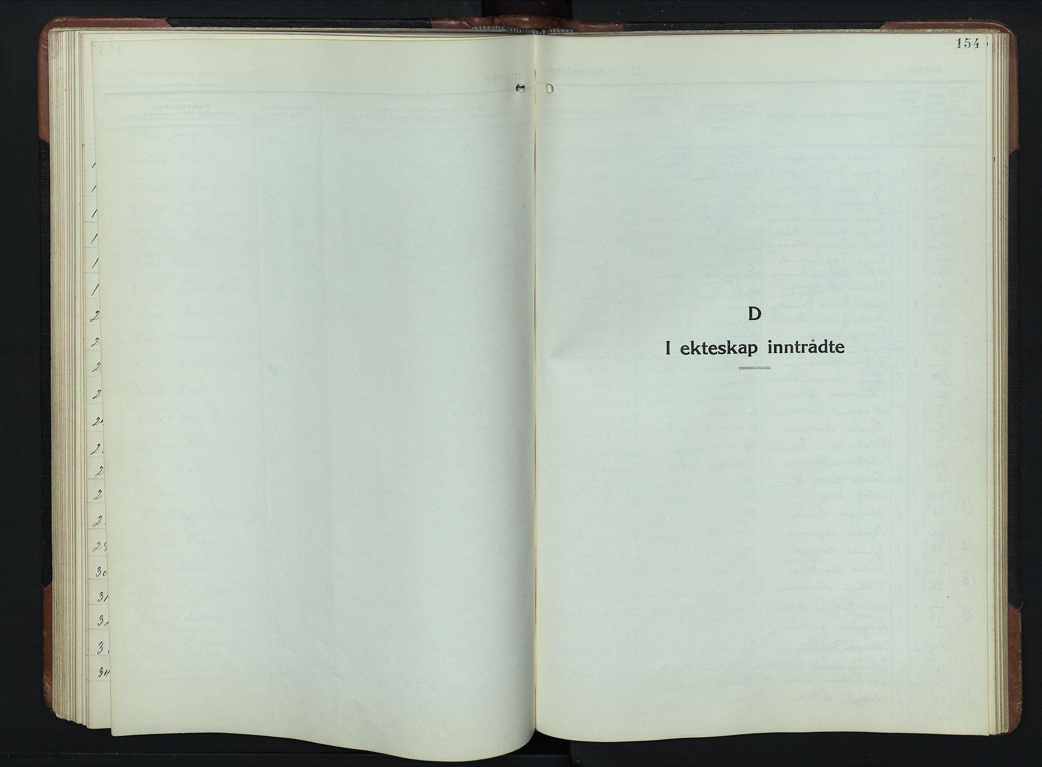 SAH, Vardal prestekontor, H/Ha/Hab/L0023: Klokkerbok nr. 23, 1929-1941, s. 154