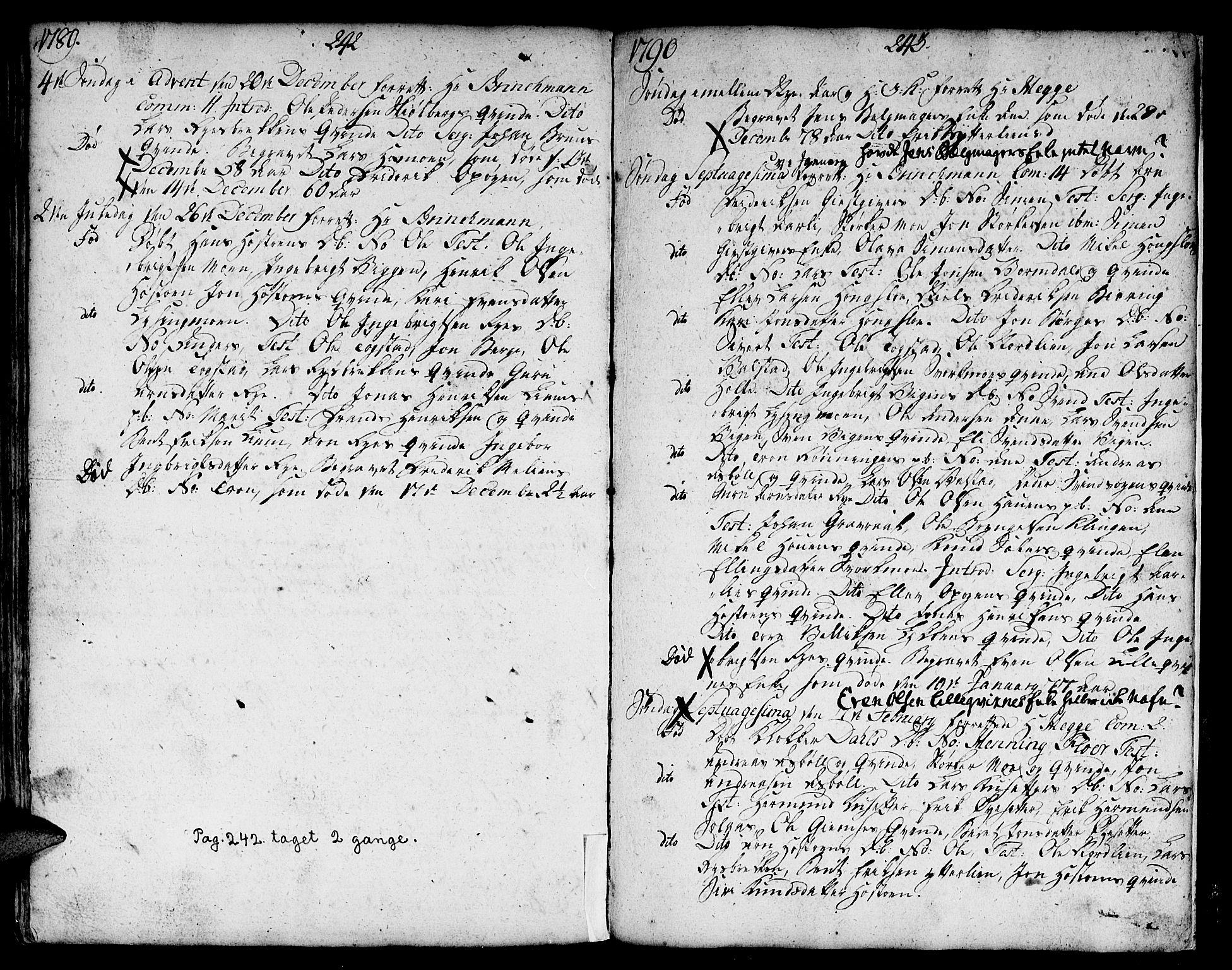 SAT, Ministerialprotokoller, klokkerbøker og fødselsregistre - Sør-Trøndelag, 671/L0840: Ministerialbok nr. 671A02, 1756-1794, s. 342-343