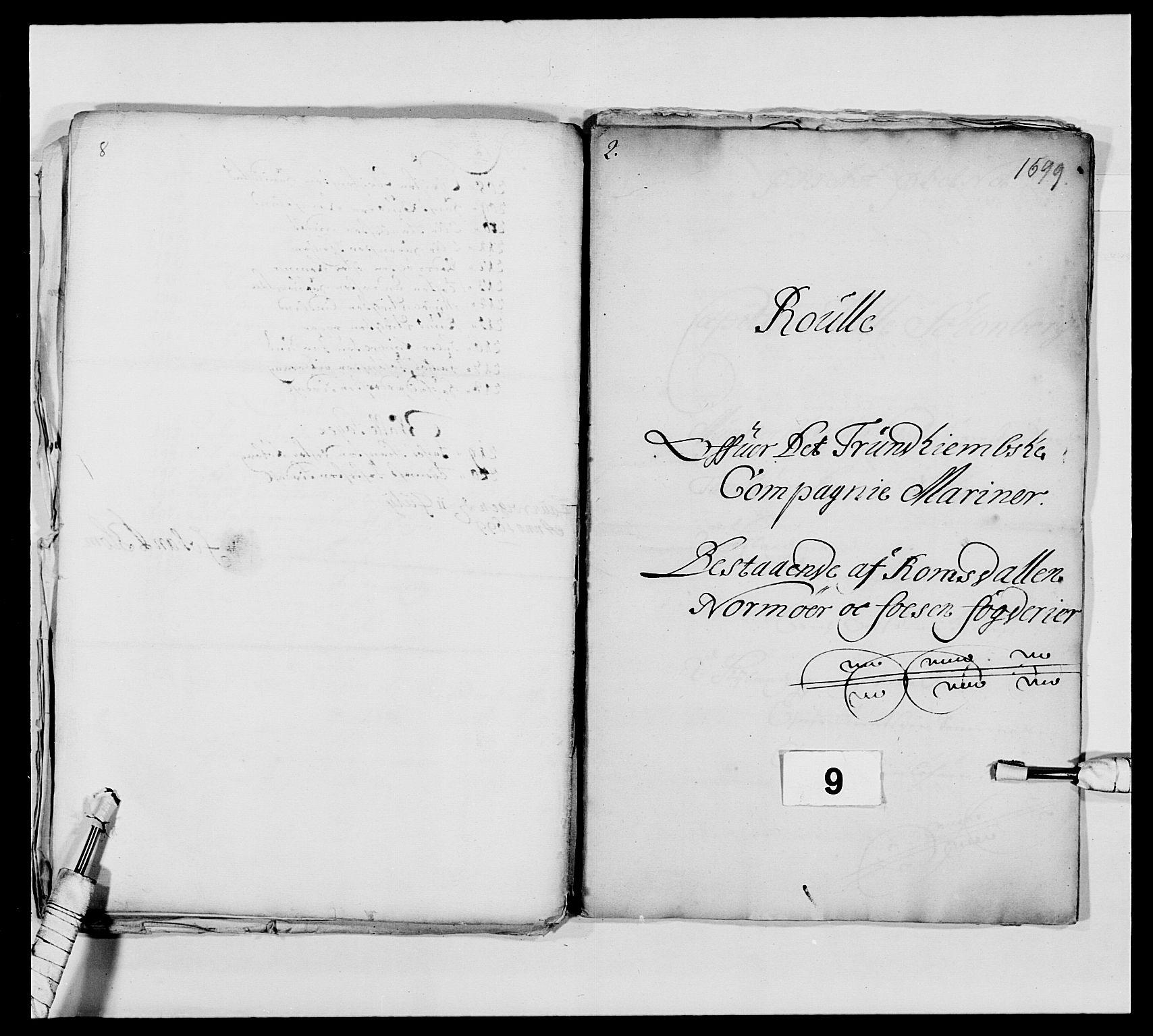 RA, Kommanderende general (KG I) med Det norske krigsdirektorium, E/Ea/L0473: Marineregimentet, 1664-1700, s. 166