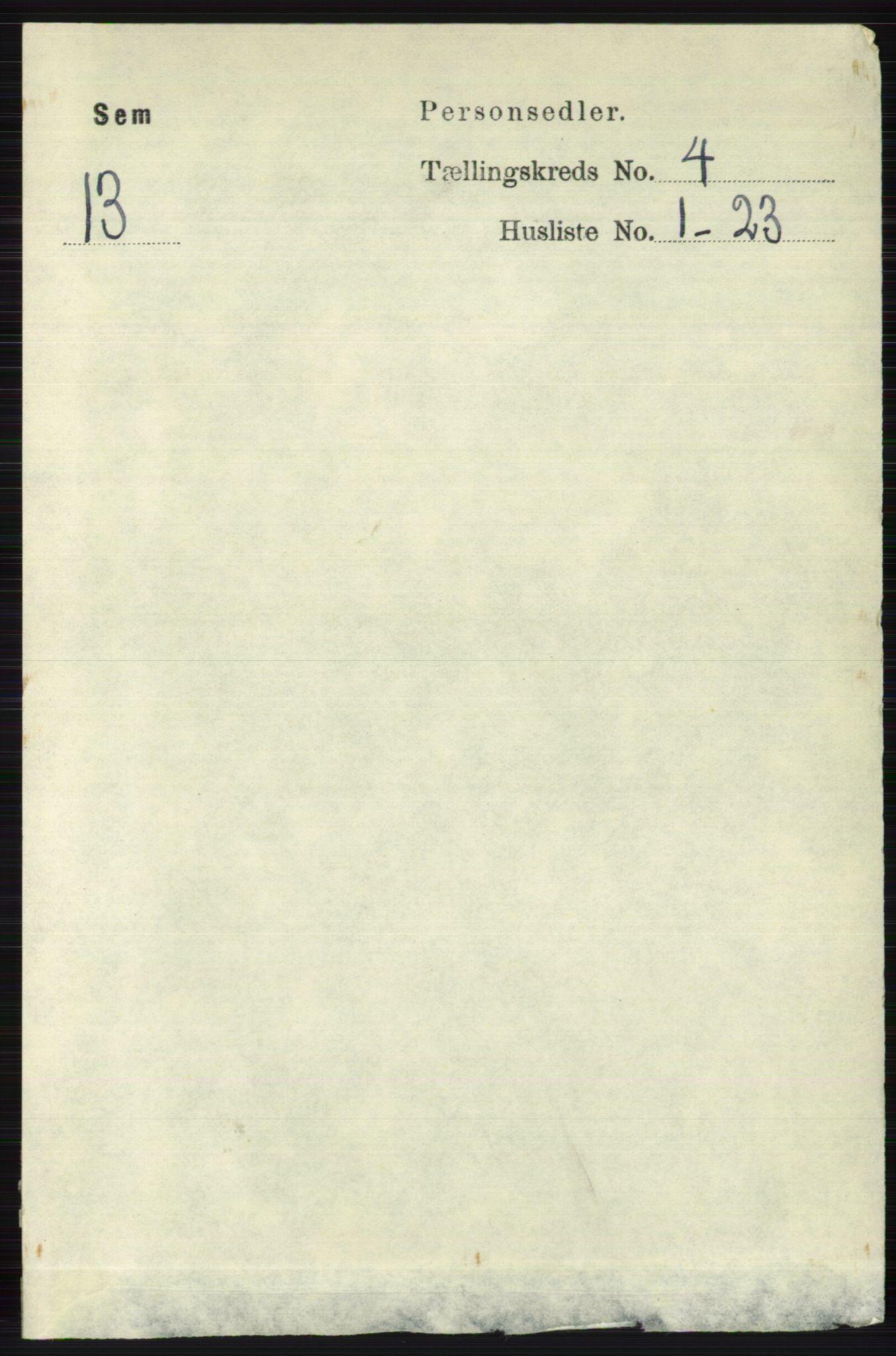 RA, Folketelling 1891 for 0721 Sem herred, 1891, s. 1539