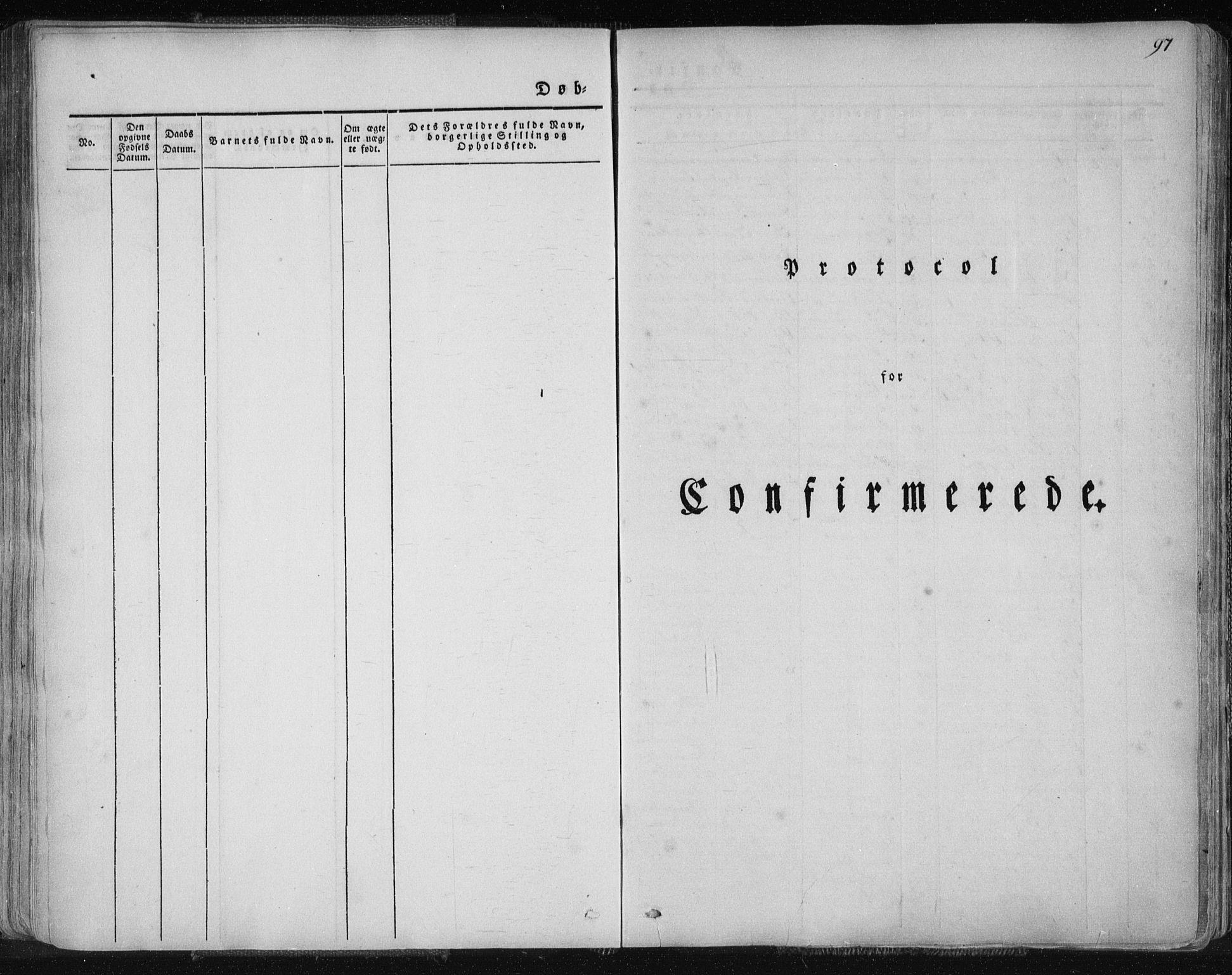 SAT, Ministerialprotokoller, klokkerbøker og fødselsregistre - Nordland, 827/L0390: Ministerialbok nr. 827A02, 1826-1841, s. 97