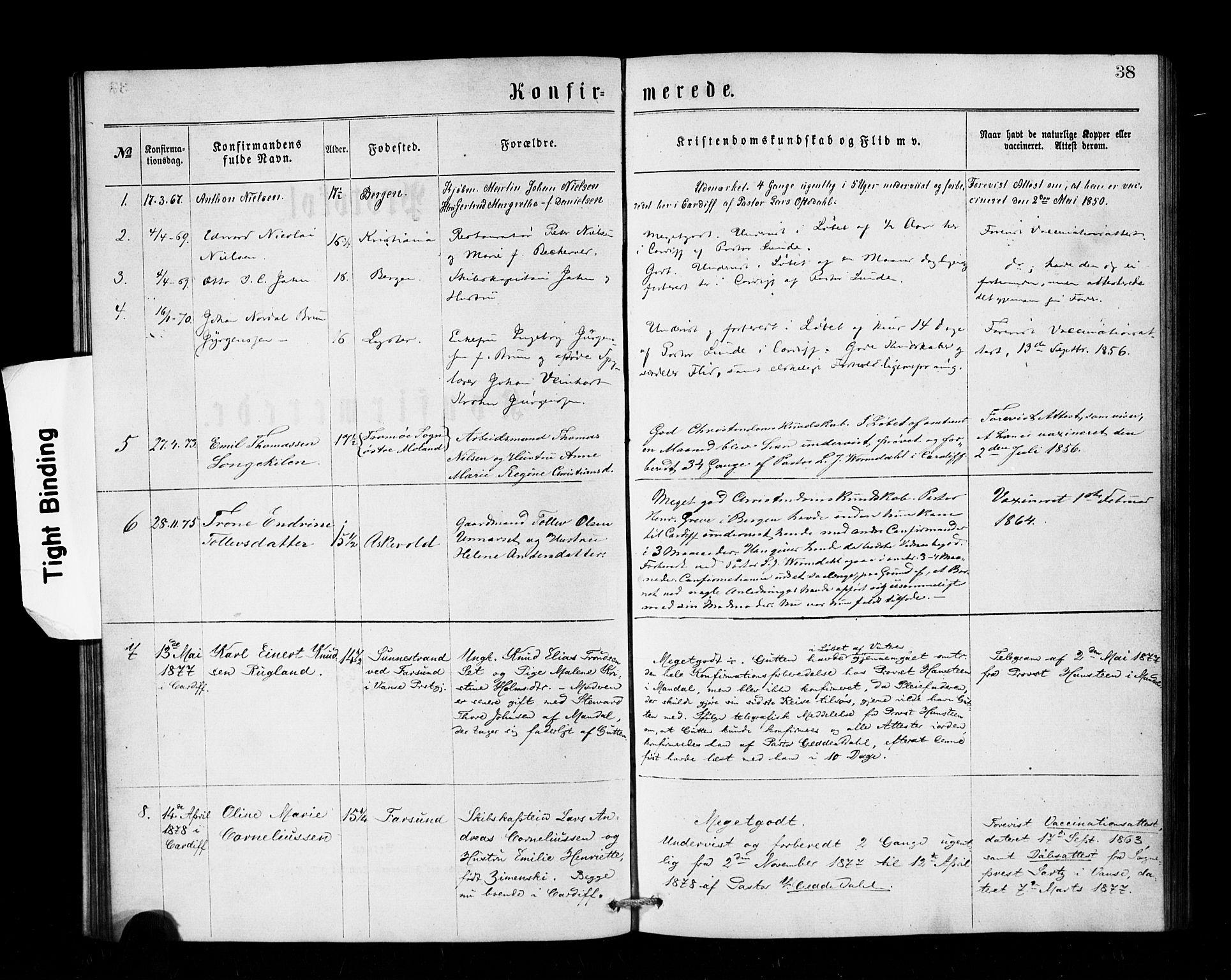 SAB, Den Norske Sjømannsmisjon i utlandet*, Ministerialbok nr. A 1, 1866-1887, s. 38