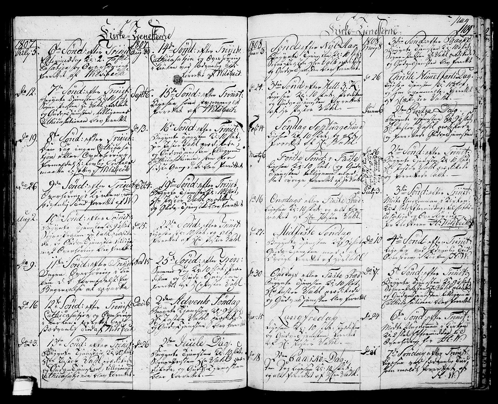 SAKO, Langesund kirkebøker, G/Ga/L0002: Klokkerbok nr. 2, 1801-1815, s. 109