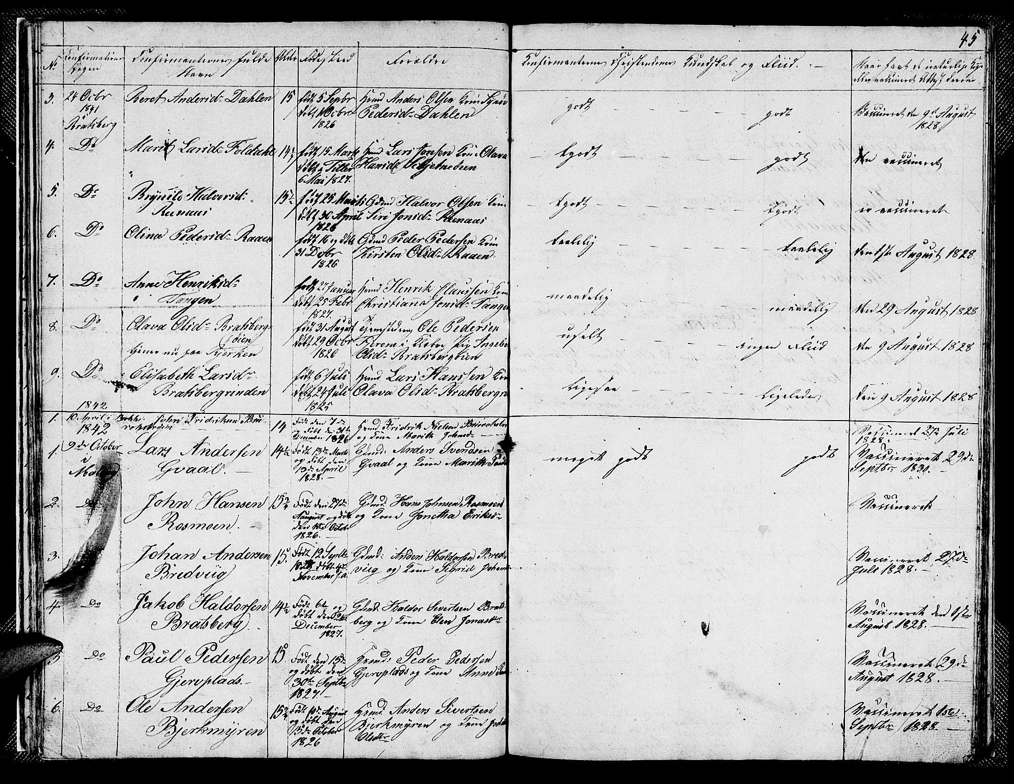 SAT, Ministerialprotokoller, klokkerbøker og fødselsregistre - Sør-Trøndelag, 608/L0338: Klokkerbok nr. 608C04, 1831-1843, s. 45
