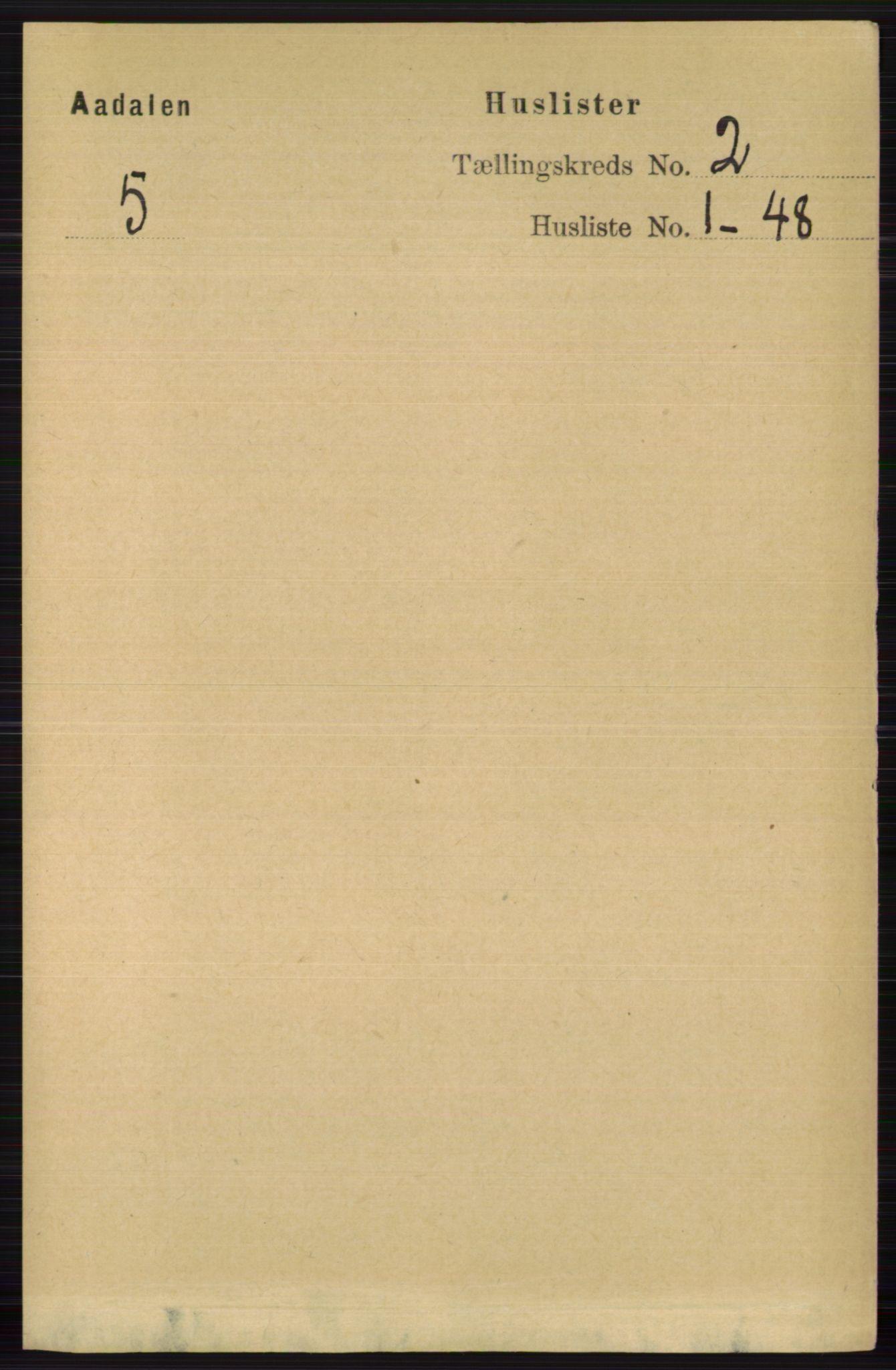 RA, Folketelling 1891 for 0614 Ådal herred, 1891, s. 587