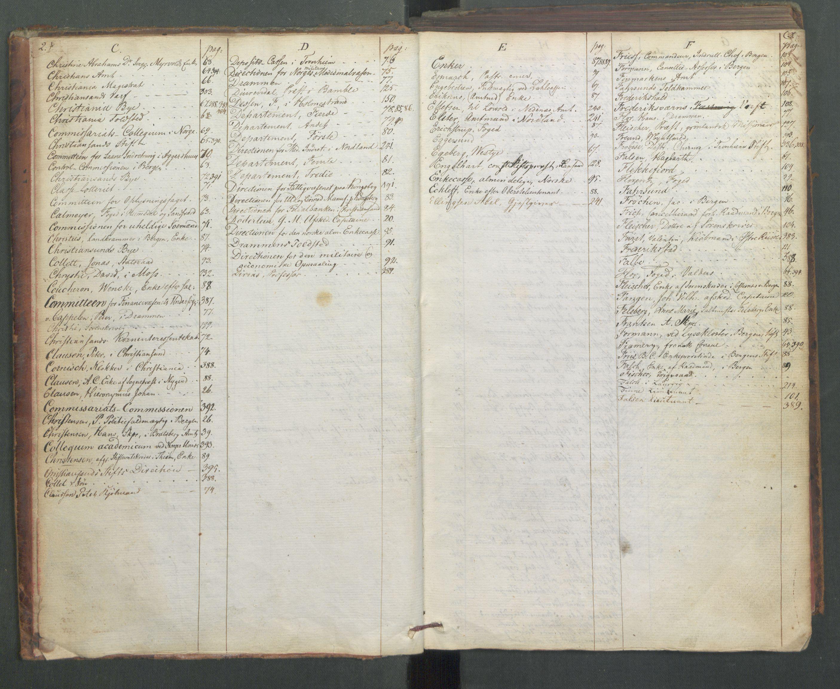 RA, Departementene i 1814, Fa/L0009: 1. byrå - Fellesregister til journalene A og B, 1814, s. 2-3