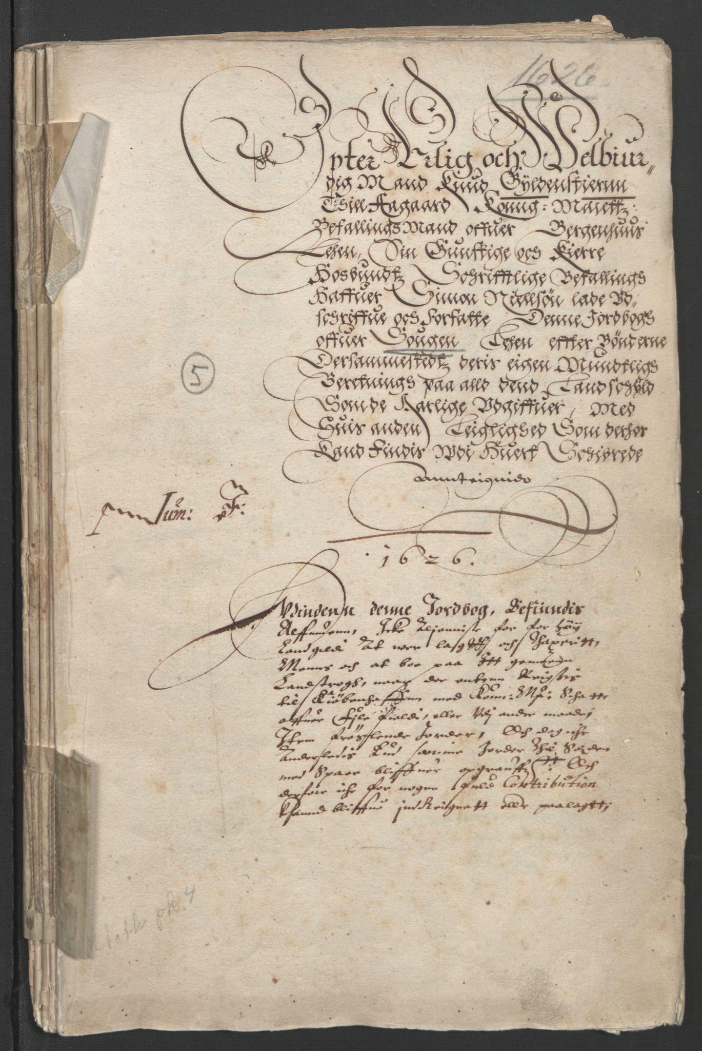 RA, Stattholderembetet 1572-1771, Ek/L0004: Jordebøker til utlikning av garnisonsskatt 1624-1626:, 1626, s. 175