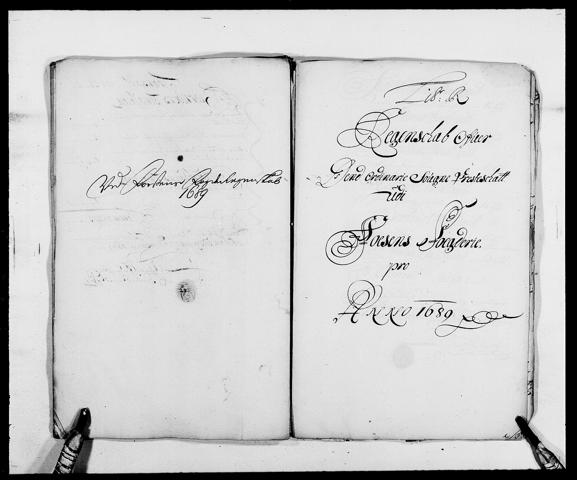 RA, Rentekammeret inntil 1814, Reviderte regnskaper, Fogderegnskap, R57/L3847: Fogderegnskap Fosen, 1689, s. 138
