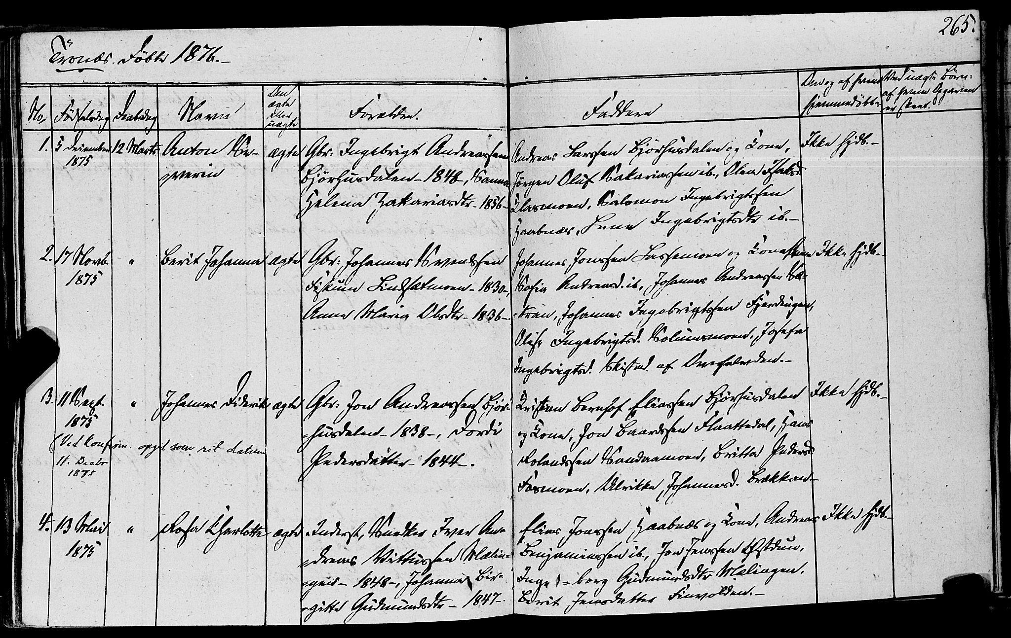 SAT, Ministerialprotokoller, klokkerbøker og fødselsregistre - Nord-Trøndelag, 762/L0538: Ministerialbok nr. 762A02 /2, 1833-1879, s. 265