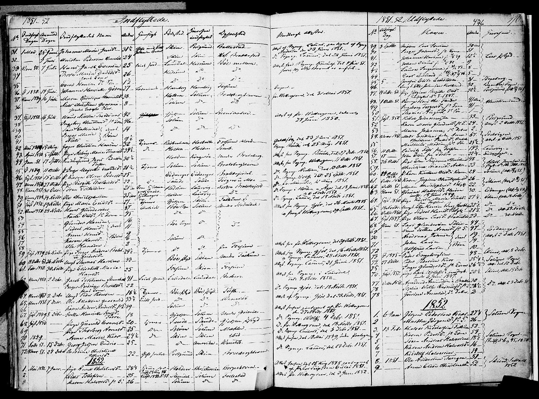 SAKO, Gjerpen kirkebøker, F/Fa/L0007b: Ministerialbok nr. 7B, 1834-1857, s. 476