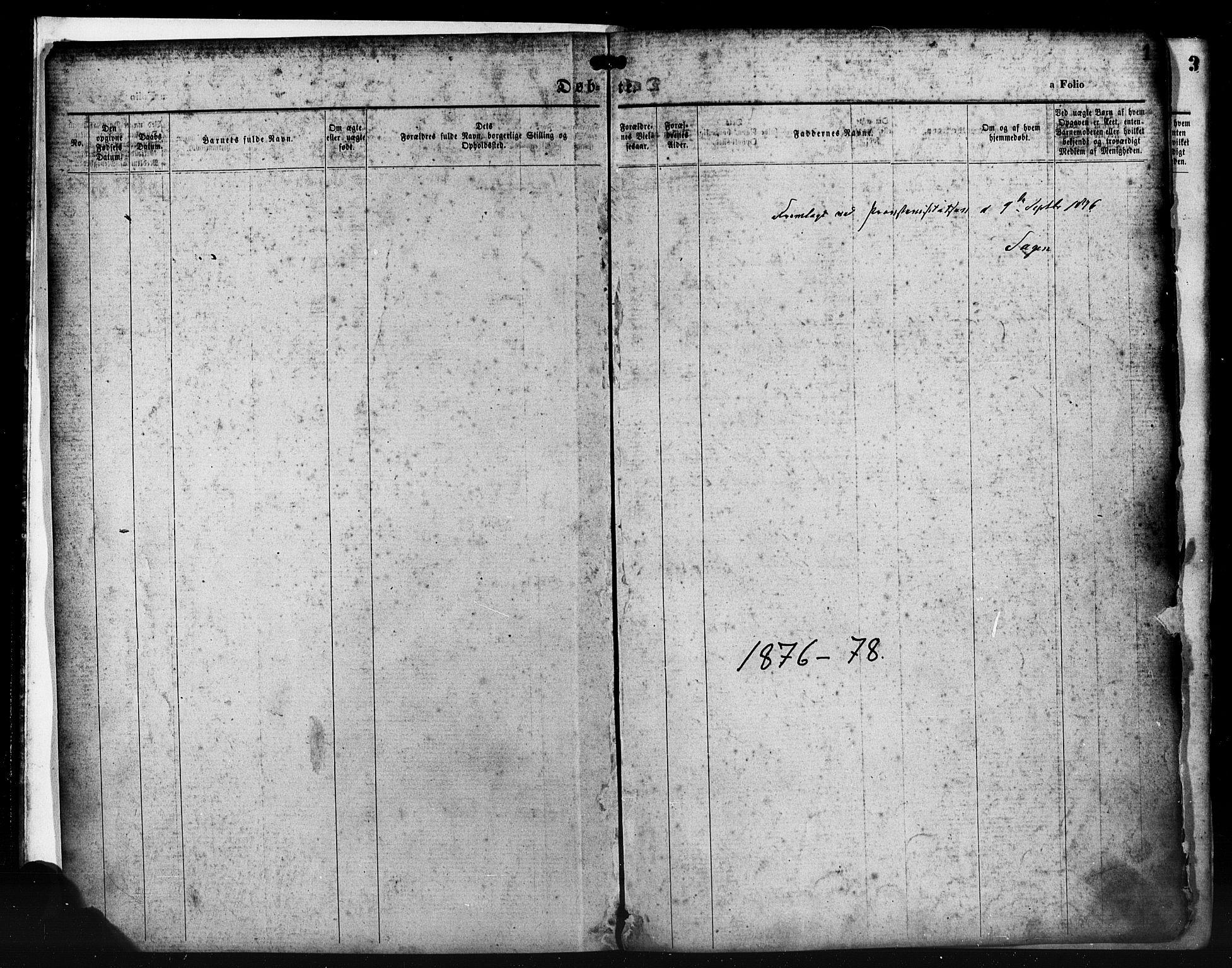 SAST, St. Petri sokneprestkontor, 30/30BA/L0014: Ministerialbok nr. A 14, 1876-1879, s. 1