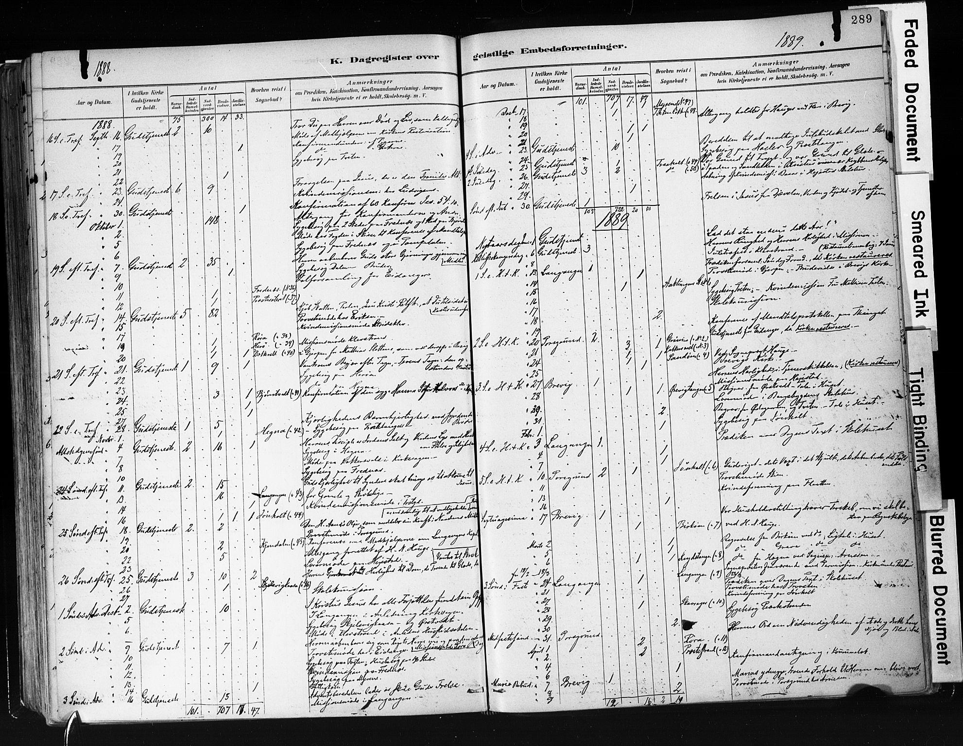 SAKO, Eidanger kirkebøker, F/Fa/L0012: Ministerialbok nr. 12, 1879-1900, s. 289