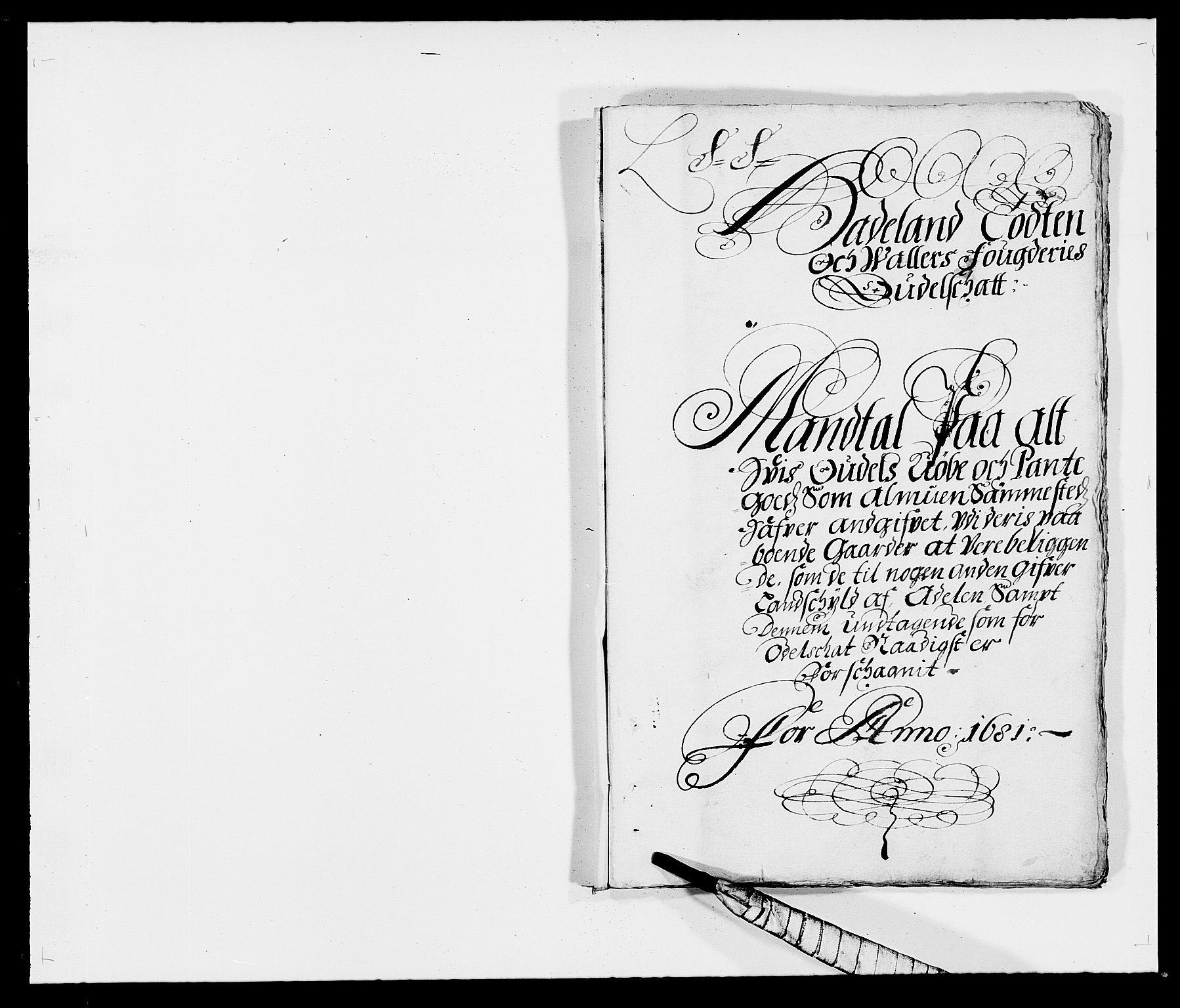 RA, Rentekammeret inntil 1814, Reviderte regnskaper, Fogderegnskap, R18/L1279: Fogderegnskap Hadeland, Toten og Valdres, 1681, s. 49