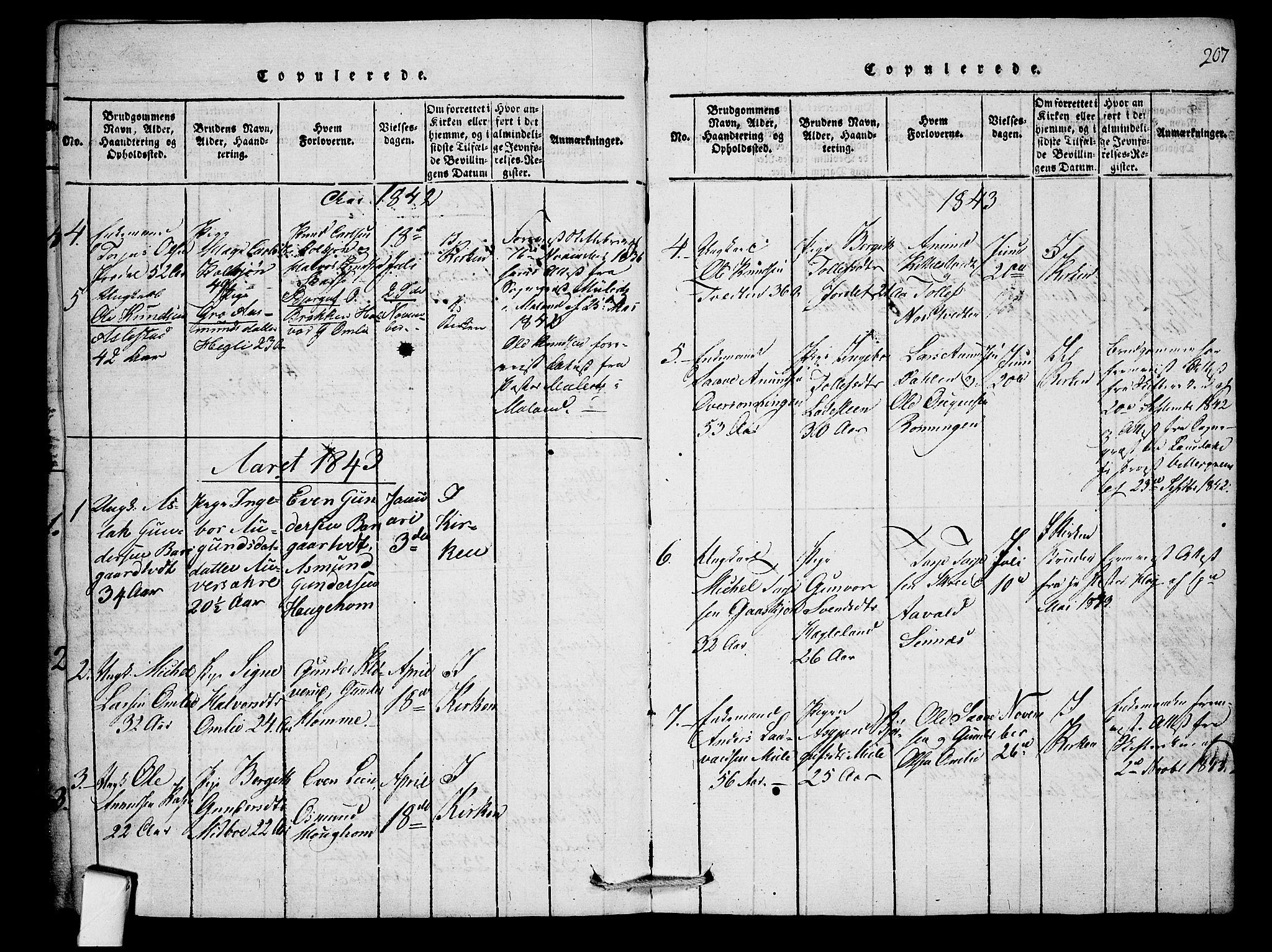 SAKO, Mo kirkebøker, F/Fb/L0001: Ministerialbok nr. II 1, 1814-1844, s. 207