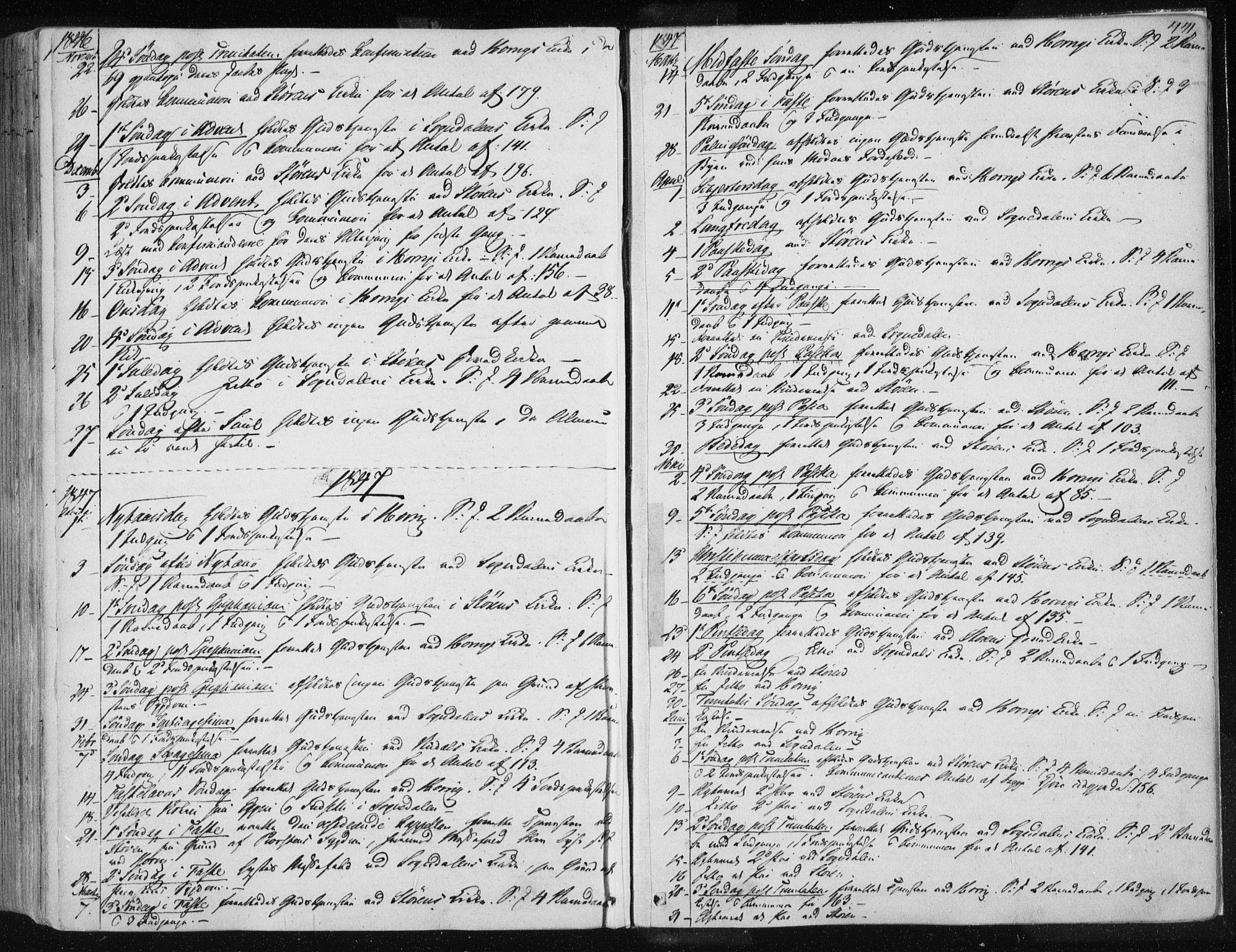 SAT, Ministerialprotokoller, klokkerbøker og fødselsregistre - Sør-Trøndelag, 687/L0997: Ministerialbok nr. 687A05 /1, 1843-1848, s. 441