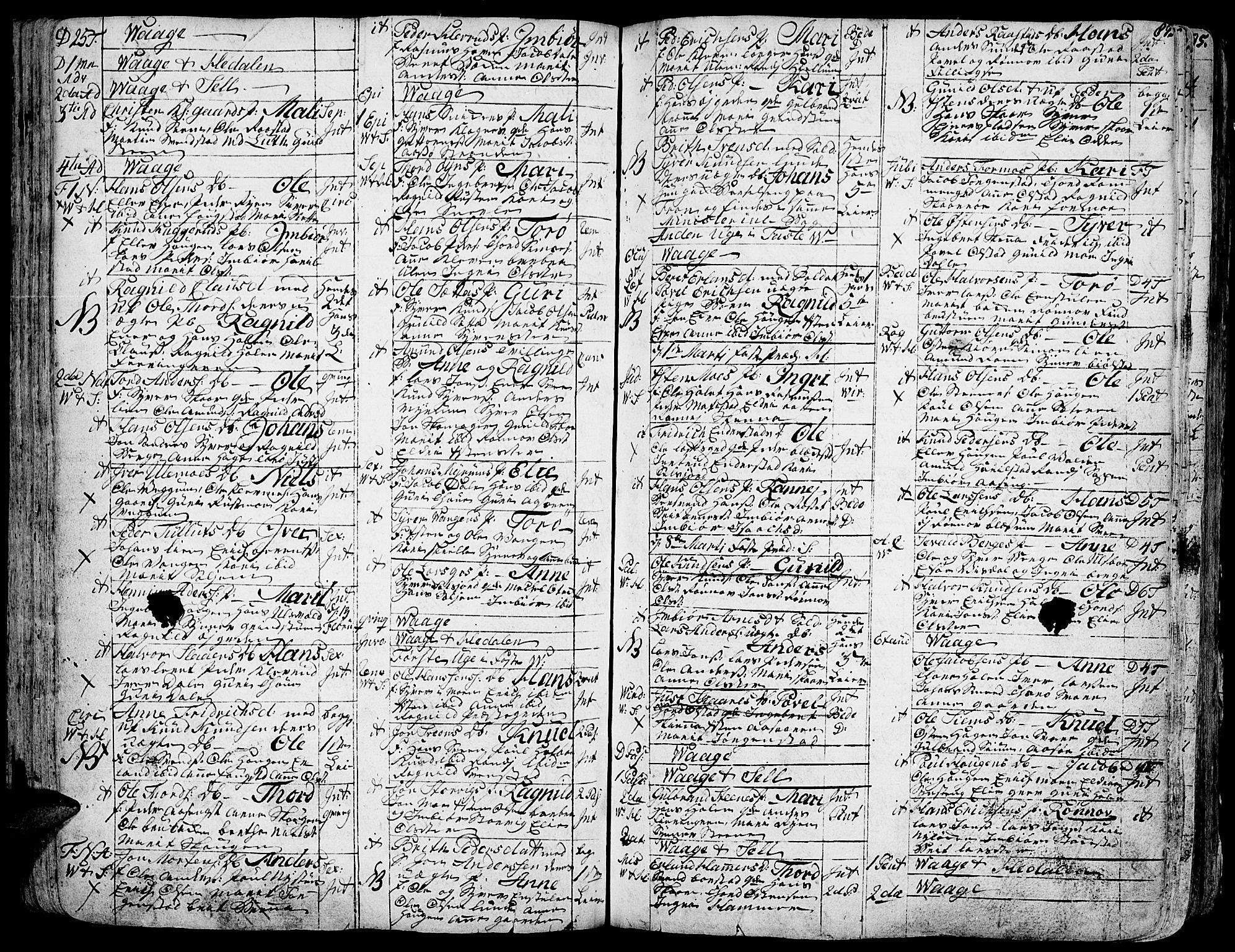 SAH, Vågå prestekontor, Ministerialbok nr. 1, 1739-1810, s. 87