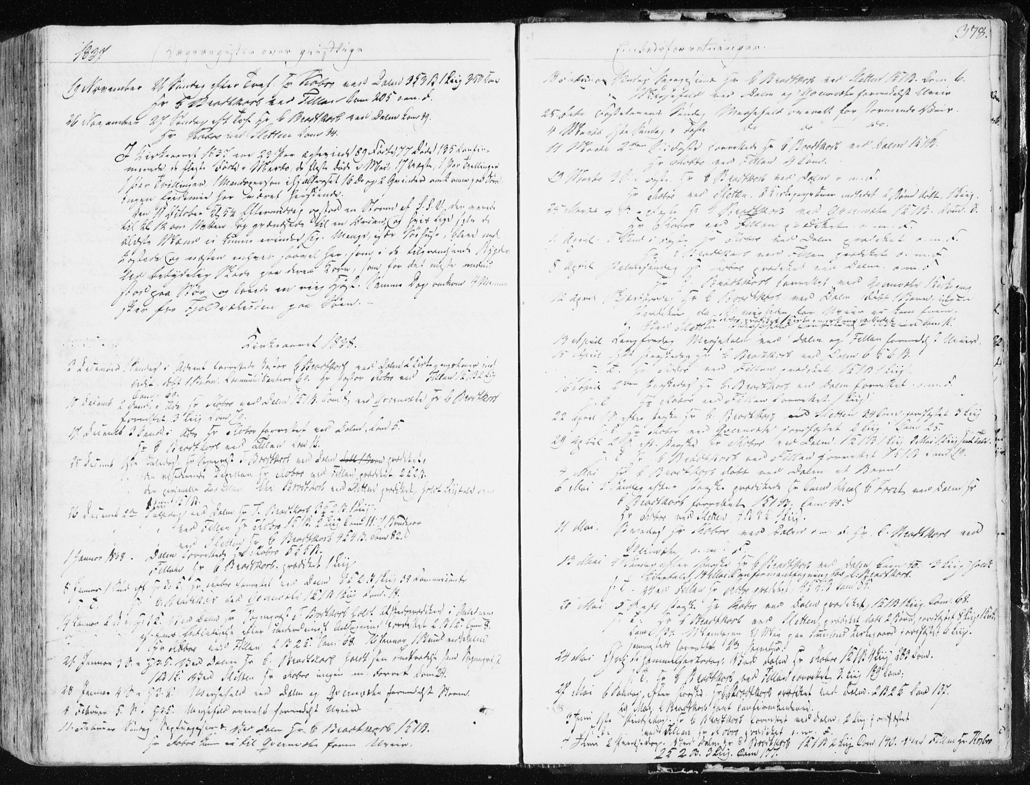 SAT, Ministerialprotokoller, klokkerbøker og fødselsregistre - Sør-Trøndelag, 634/L0528: Ministerialbok nr. 634A04, 1827-1842, s. 378
