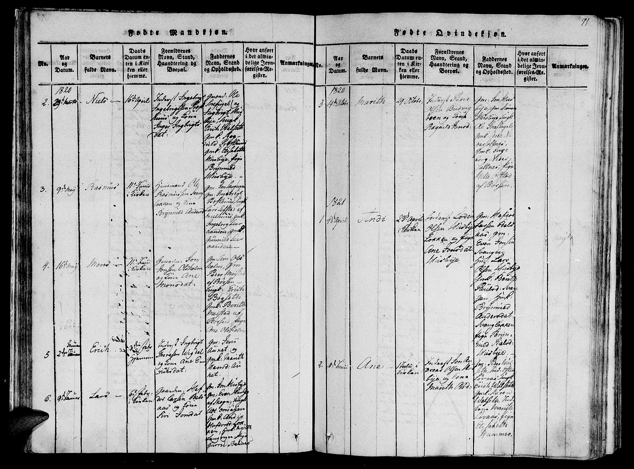 SAT, Ministerialprotokoller, klokkerbøker og fødselsregistre - Sør-Trøndelag, 612/L0373: Ministerialbok nr. 612A06 /2, 1816-1828, s. 71