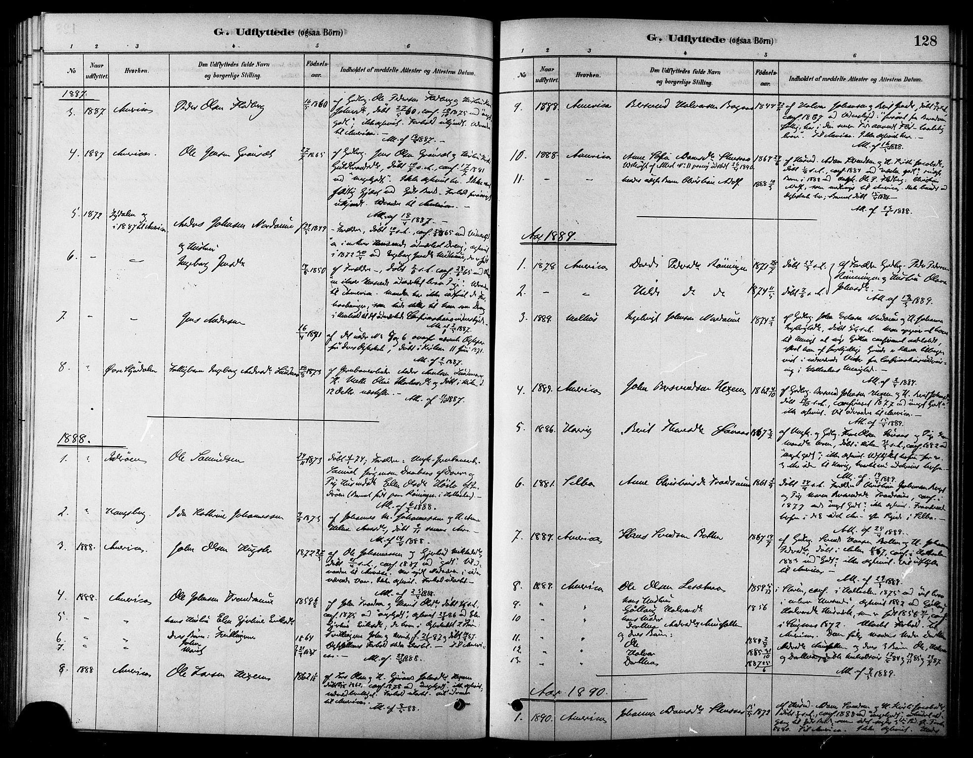 SAT, Ministerialprotokoller, klokkerbøker og fødselsregistre - Sør-Trøndelag, 685/L0972: Ministerialbok nr. 685A09, 1879-1890, s. 128