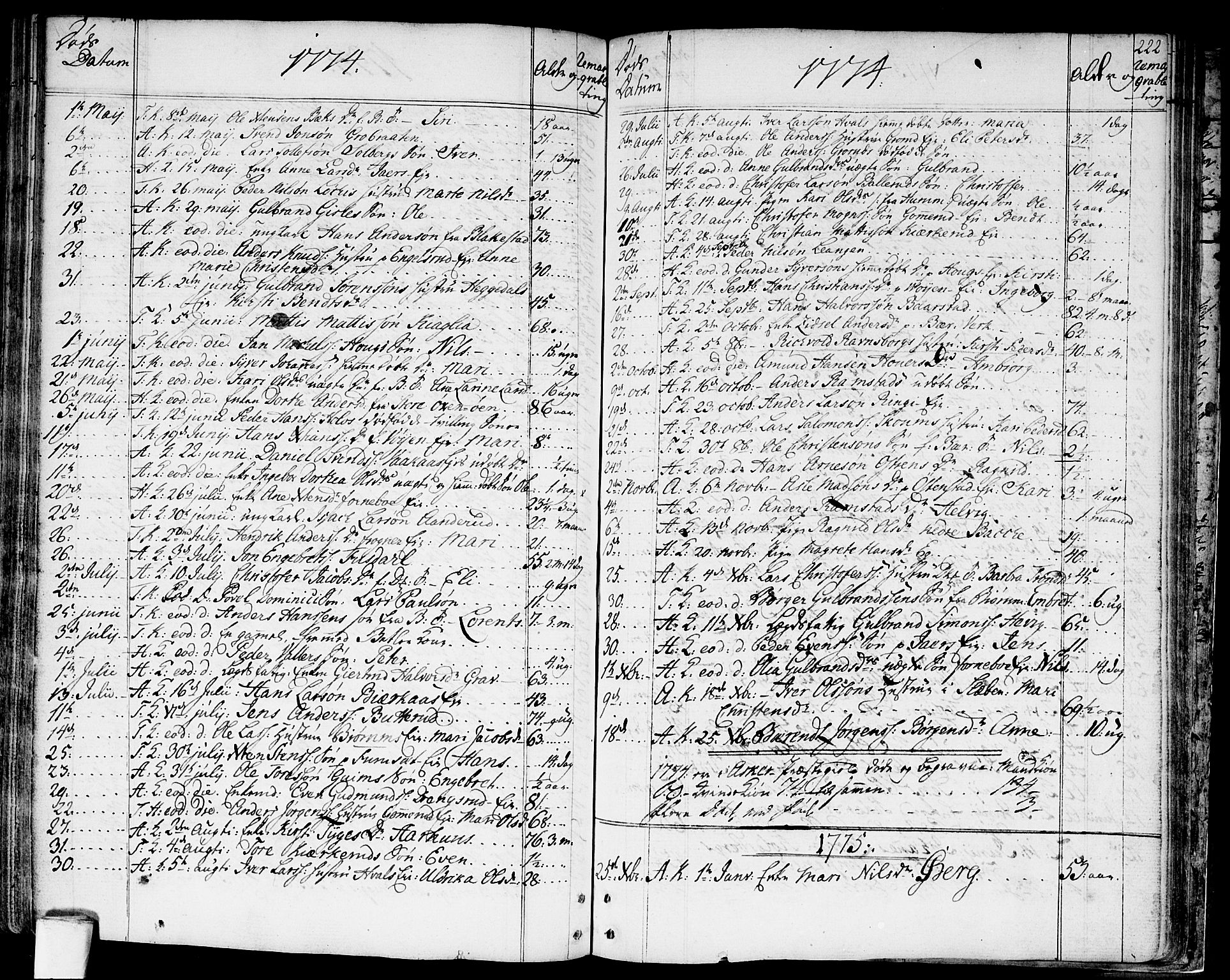 SAO, Asker prestekontor Kirkebøker, F/Fa/L0003: Ministerialbok nr. I 3, 1767-1807, s. 222