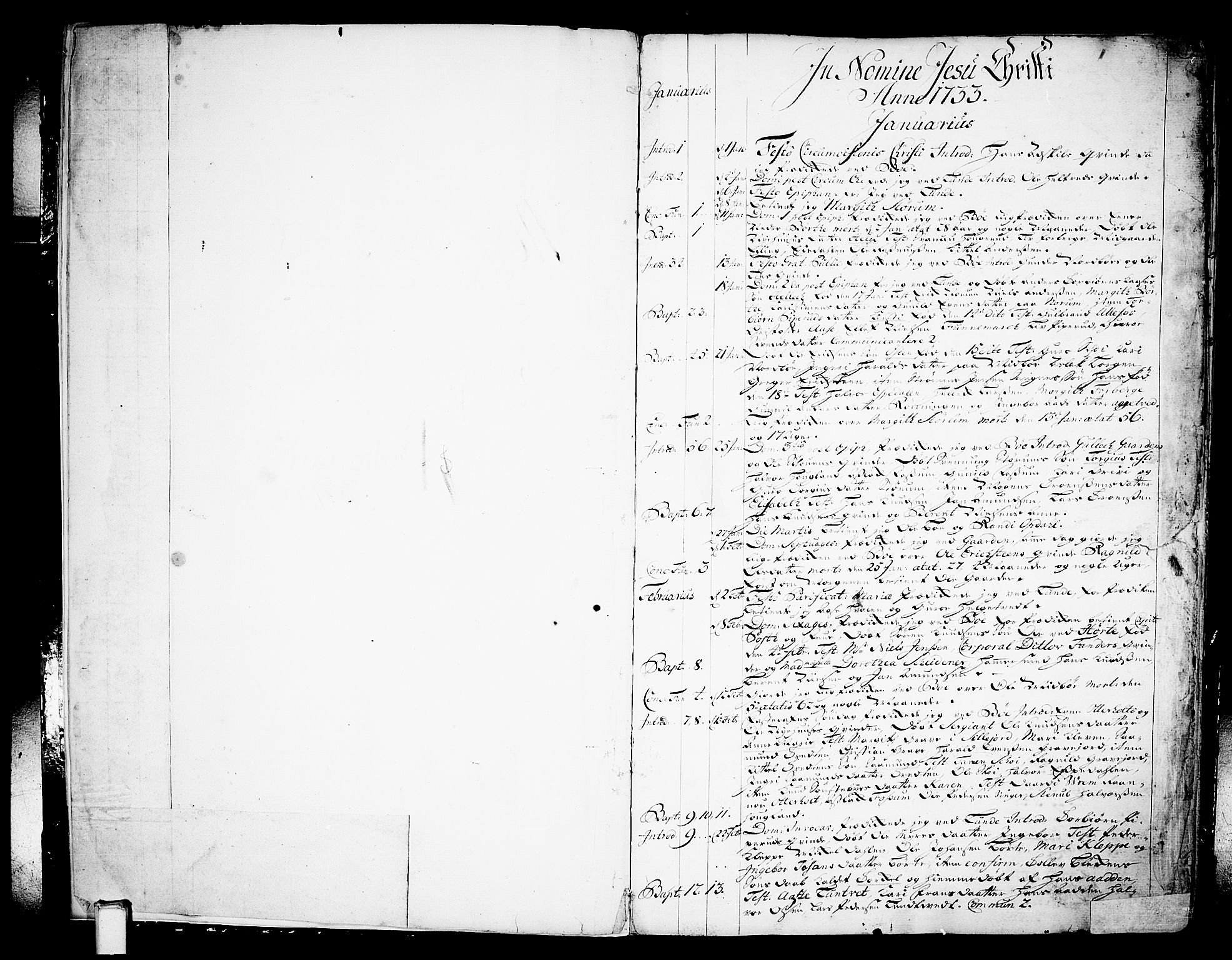 SAKO, Bø kirkebøker, F/Fa/L0003: Ministerialbok nr. 3, 1733-1748, s. 1