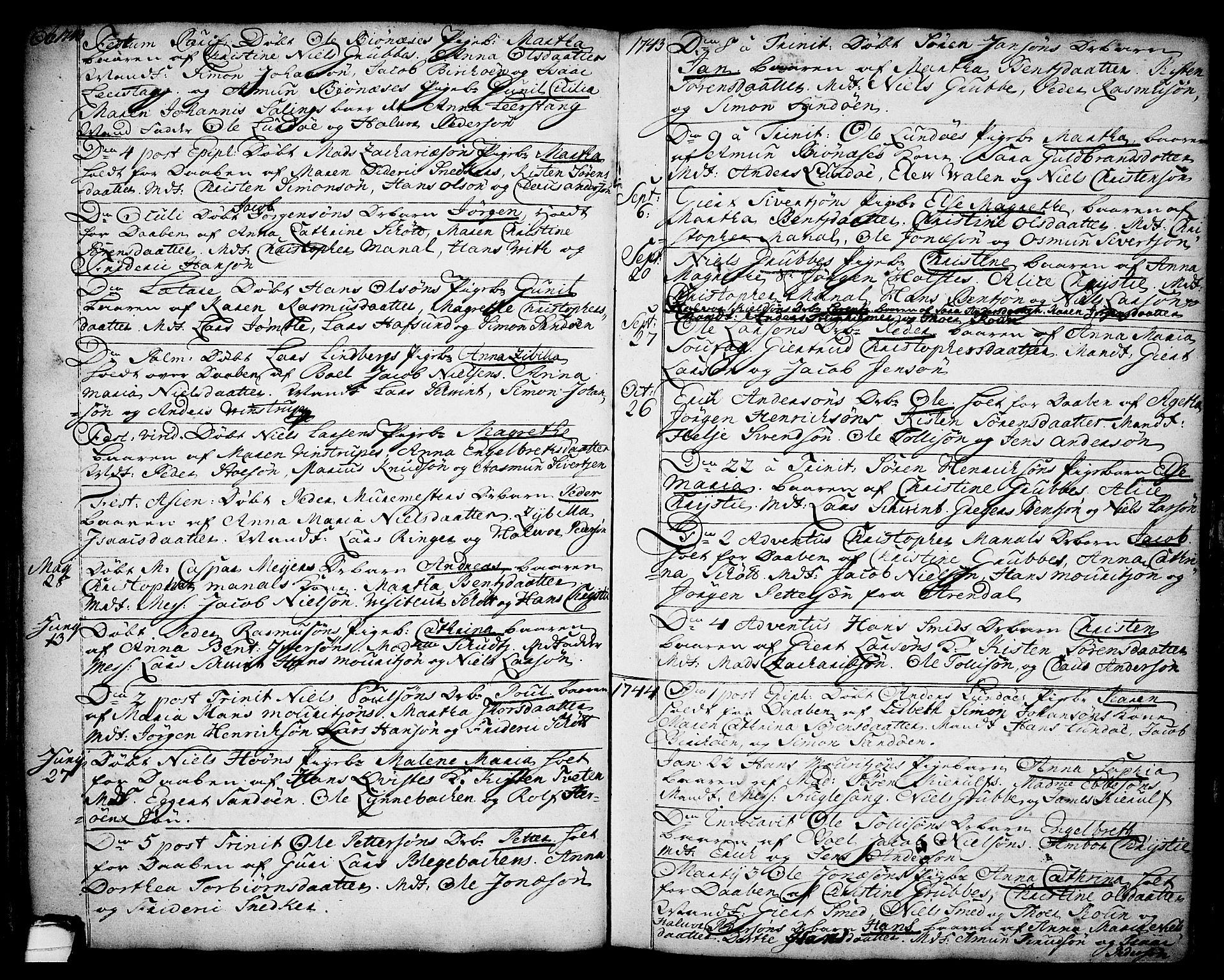 SAKO, Brevik kirkebøker, F/Fa/L0002: Ministerialbok nr. 2, 1720-1764, s. 34n