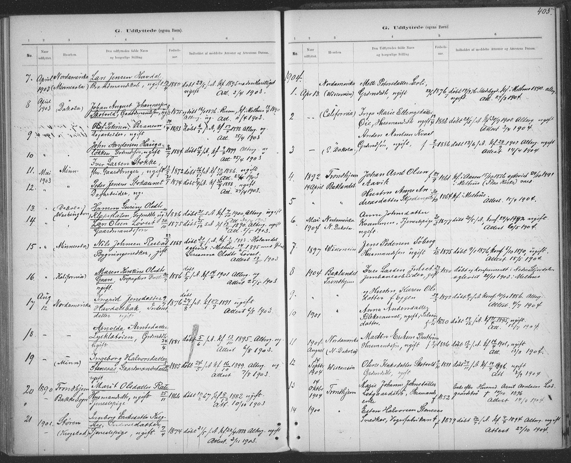 SAT, Ministerialprotokoller, klokkerbøker og fødselsregistre - Sør-Trøndelag, 691/L1085: Ministerialbok nr. 691A17, 1887-1908, s. 405