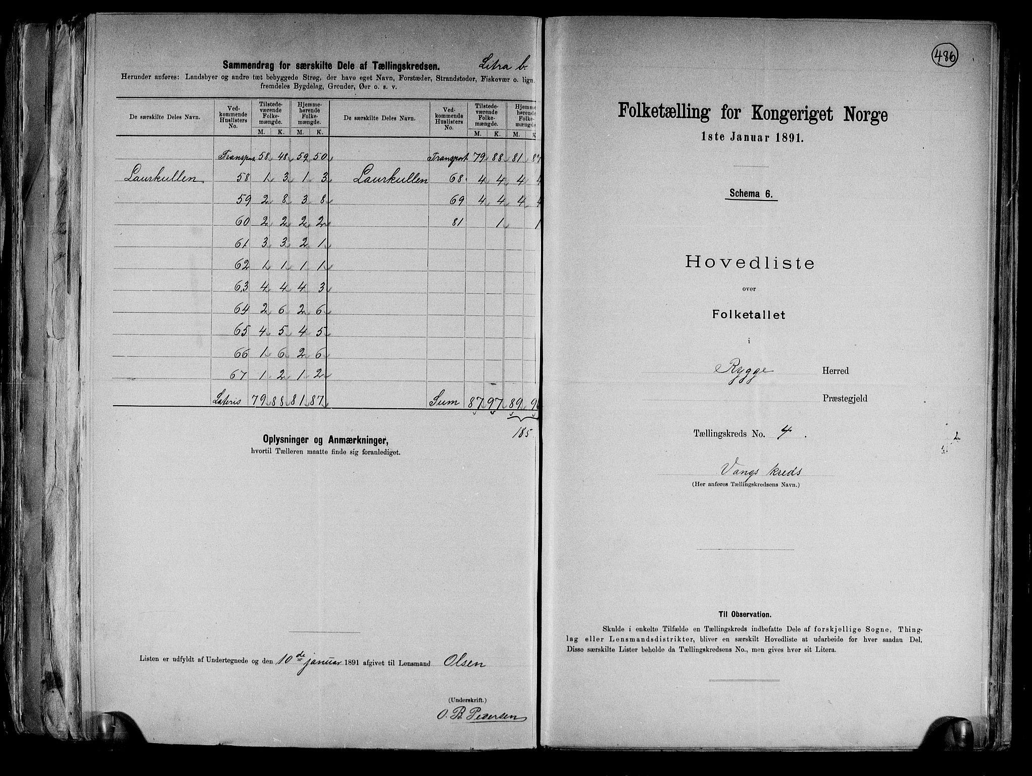 RA, Folketelling 1891 for 0136 Rygge herred, 1891, s. 14