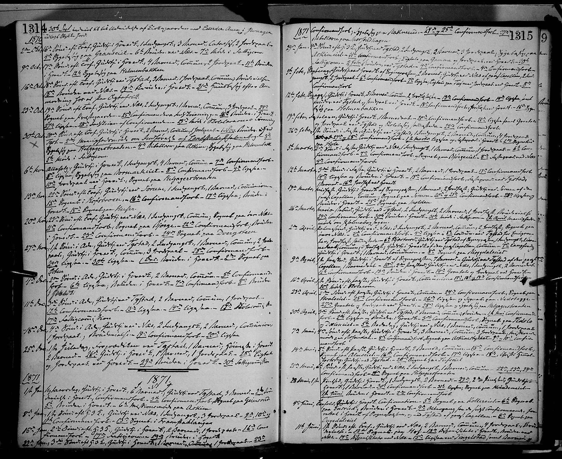 SAH, Gran prestekontor, Ministerialbok nr. 12, 1856-1874, s. 1314-1315