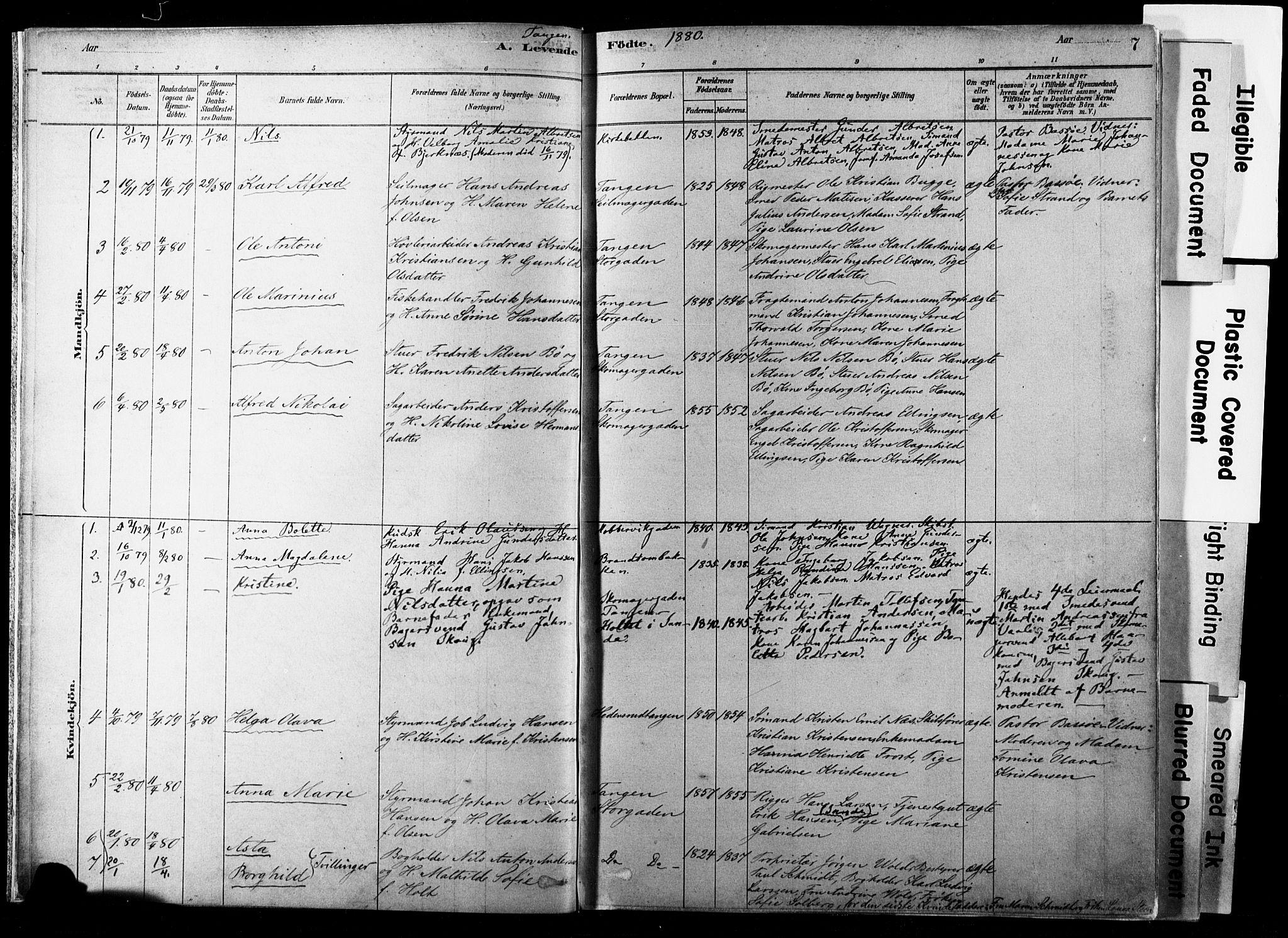 SAKO, Strømsø kirkebøker, F/Fb/L0006: Ministerialbok nr. II 6, 1879-1910, s. 7