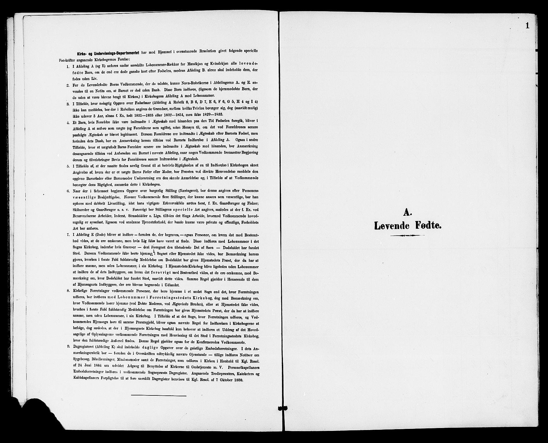SAKO, Holla kirkebøker, G/Gb/L0002: Klokkerbok nr. II 2, 1897-1913, s. 1