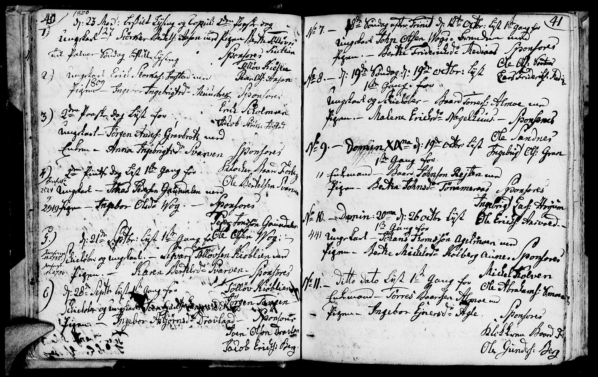 SAT, Ministerialprotokoller, klokkerbøker og fødselsregistre - Nord-Trøndelag, 749/L0468: Ministerialbok nr. 749A02, 1787-1817, s. 40-41