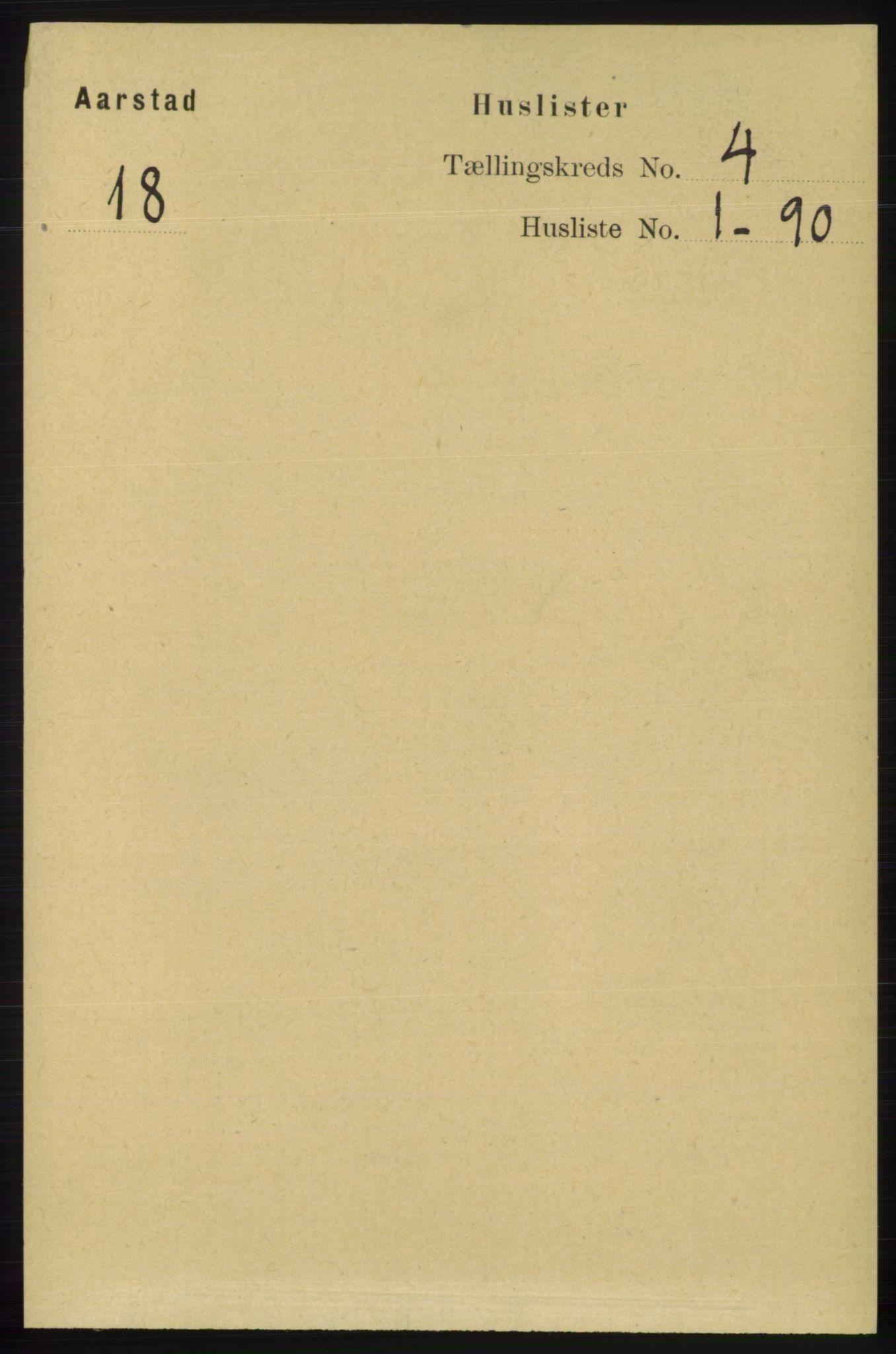 SAB, Folketelling 1891 for 1280 Årstad herred, 1891, s. 2874