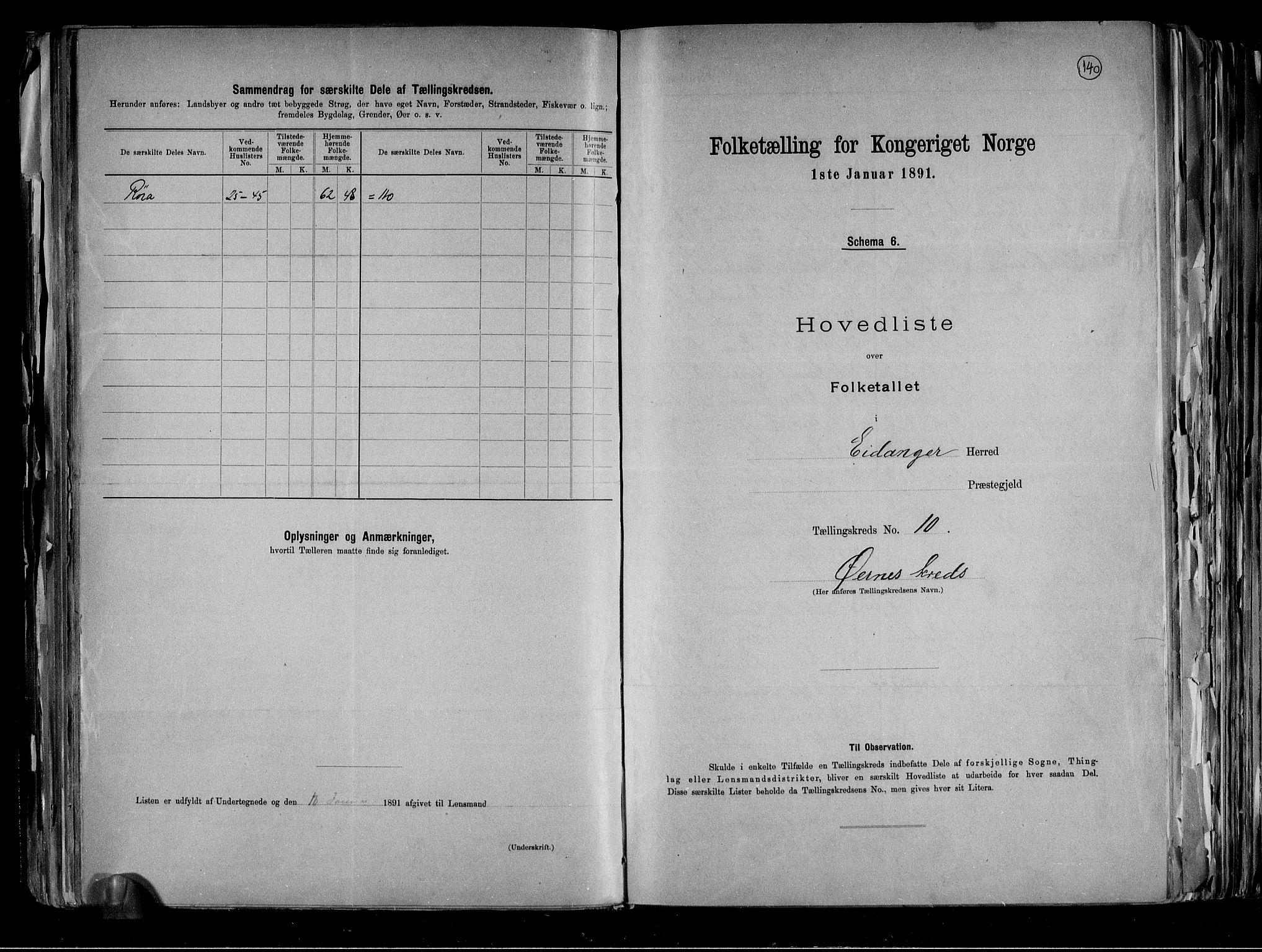RA, Folketelling 1891 for 0813 Eidanger herred, 1891, s. 26