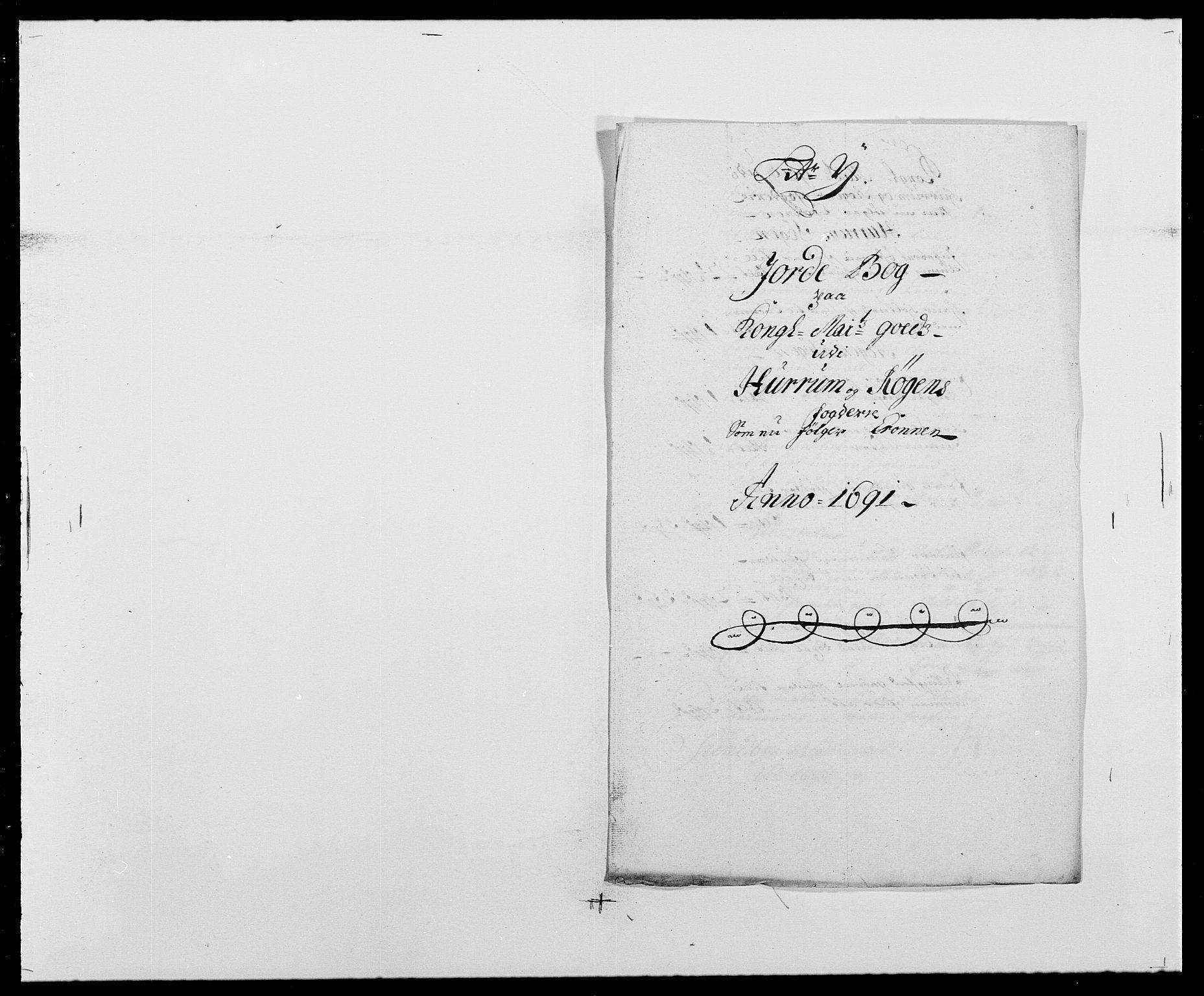 RA, Rentekammeret inntil 1814, Reviderte regnskaper, Fogderegnskap, R29/L1693: Fogderegnskap Hurum og Røyken, 1688-1693, s. 190