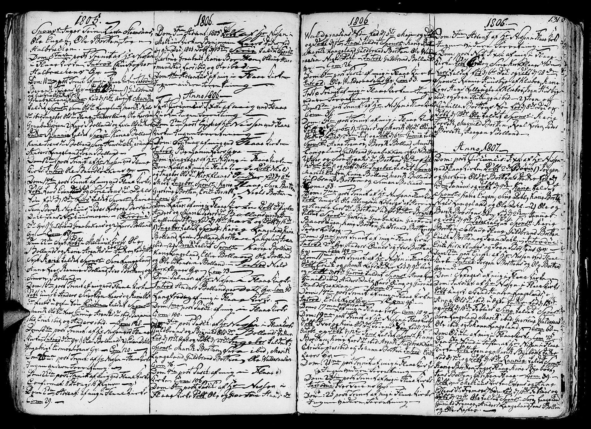 SAT, Ministerialprotokoller, klokkerbøker og fødselsregistre - Sør-Trøndelag, 691/L1062: Ministerialbok nr. 691A02 /2, 1768-1815, s. 131