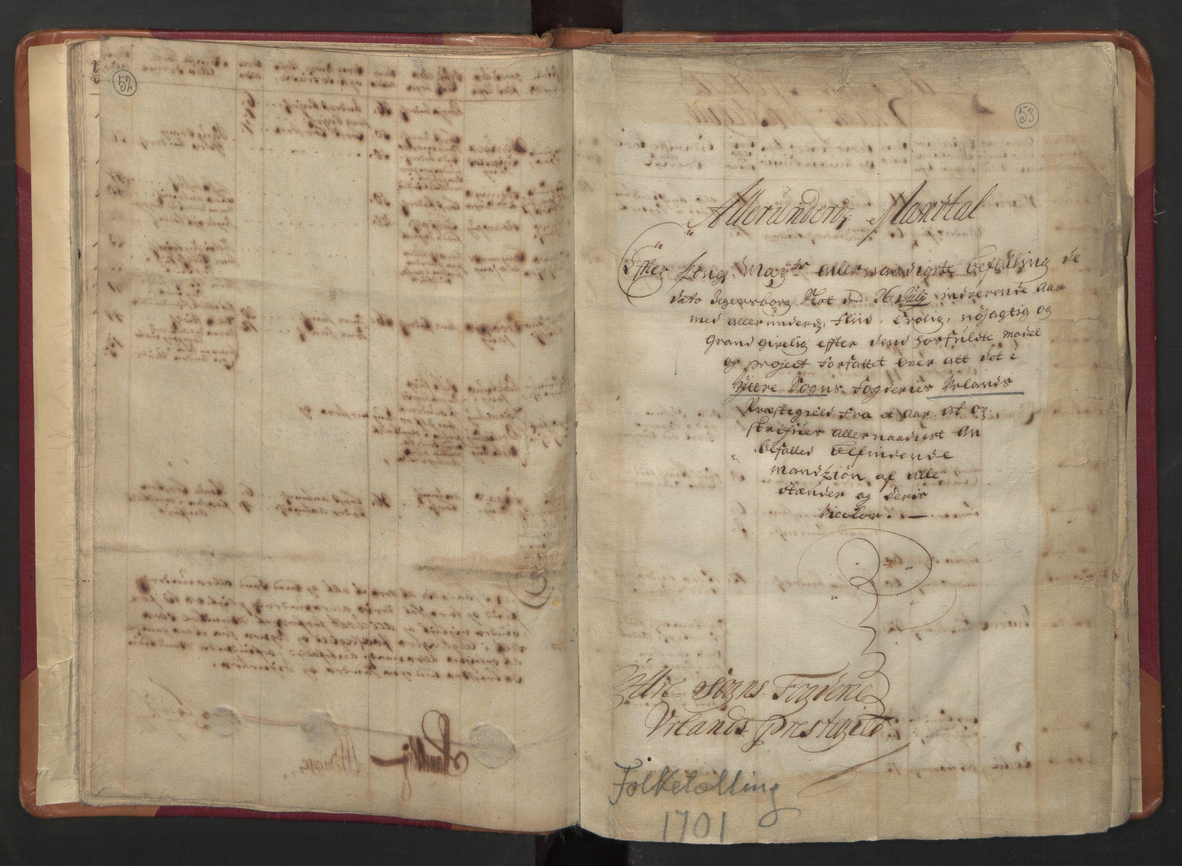RA, Manntallet 1701, nr. 8: Ytre Sogn fogderi og Indre Sogn fogderi, 1701, s. 52-53