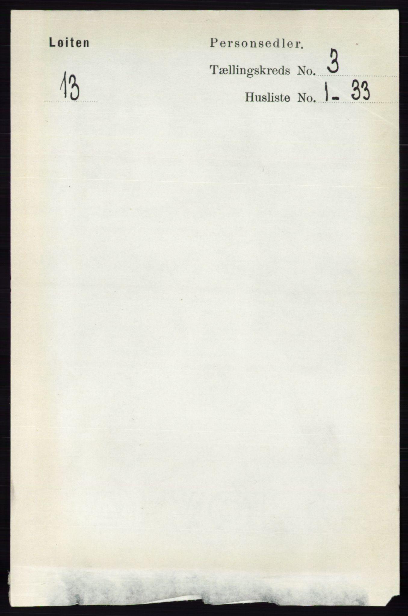 RA, Folketelling 1891 for 0415 Løten herred, 1891, s. 2124