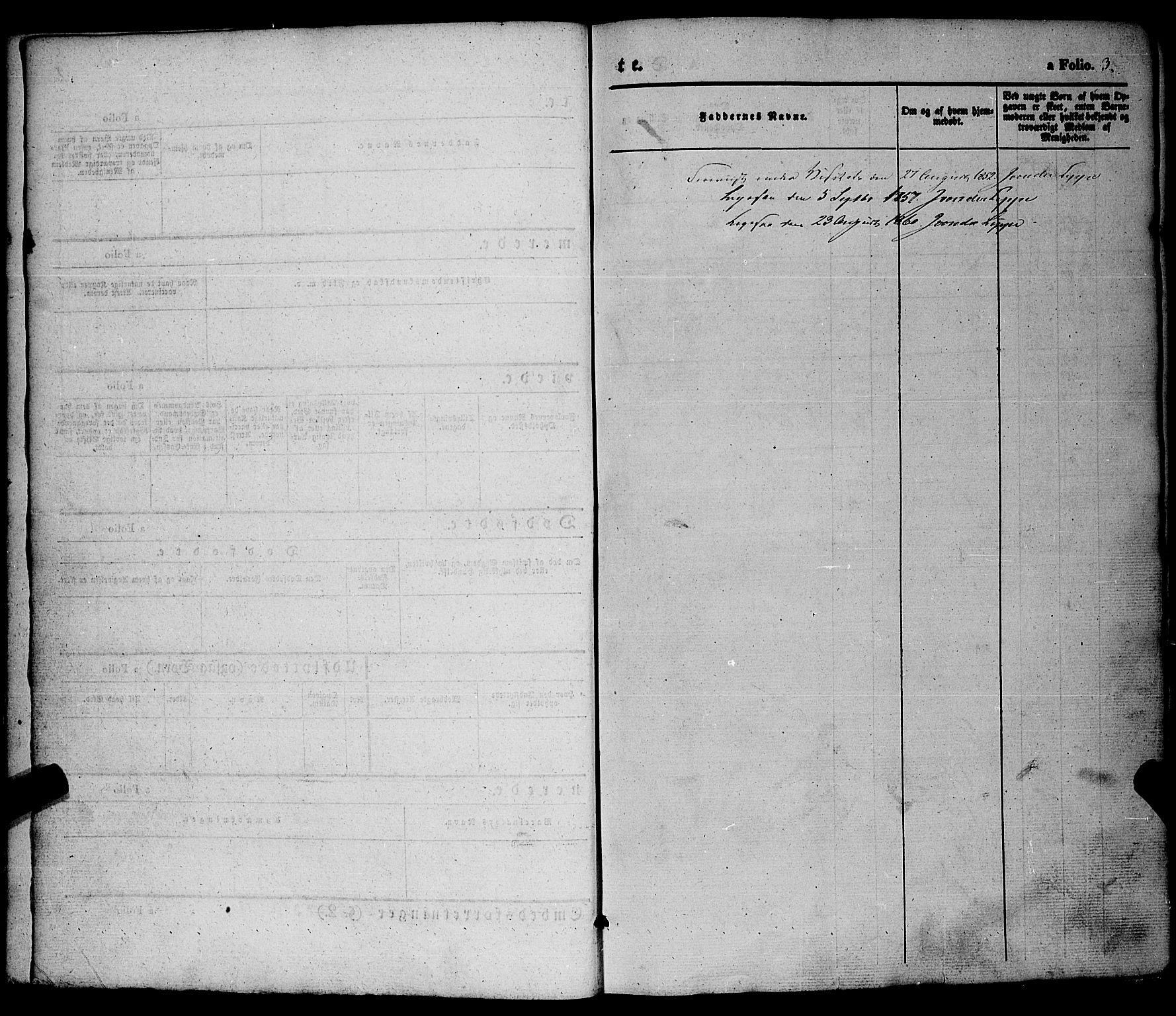 SAKO, Hjartdal kirkebøker, F/Fa/L0008: Ministerialbok nr. I 8, 1844-1859, s. 3