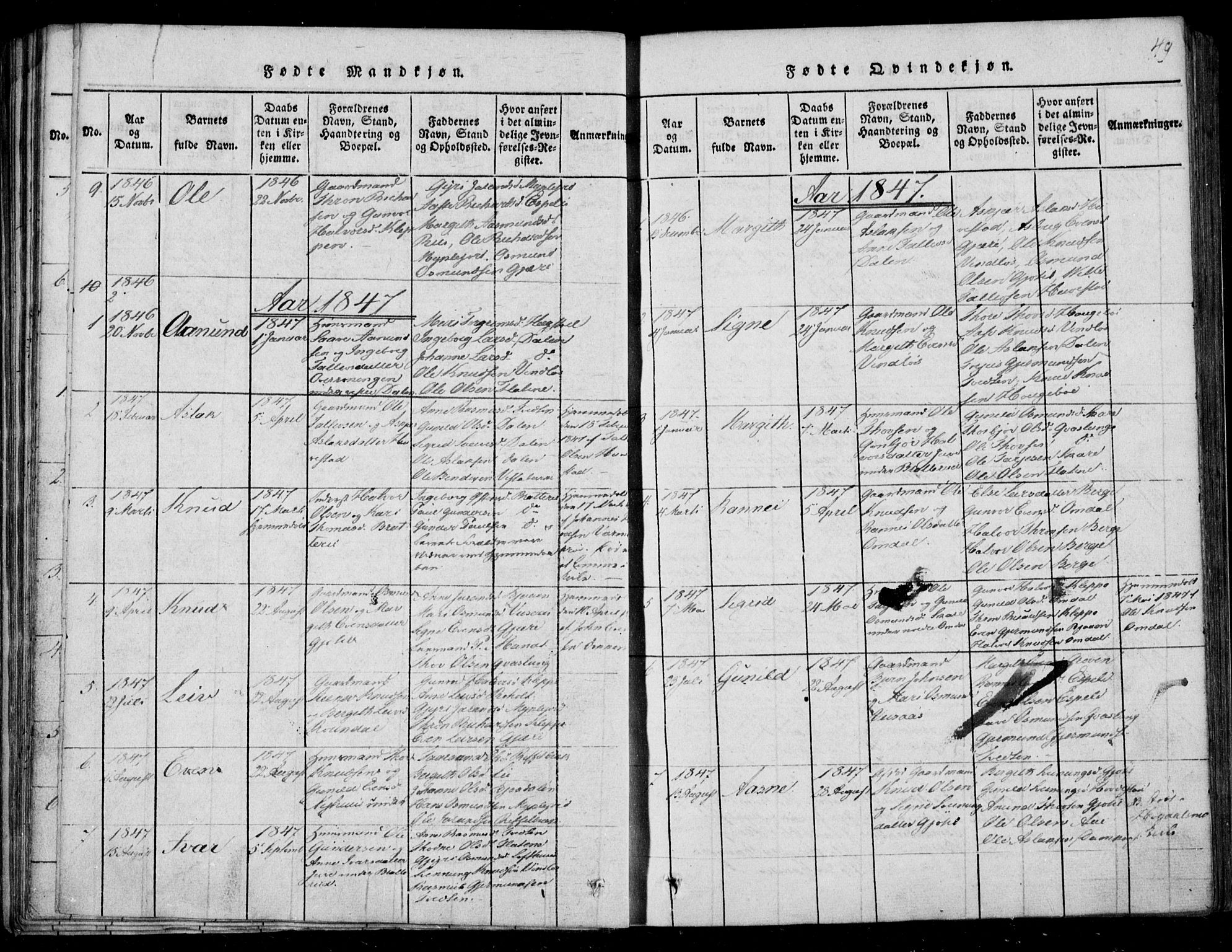 SAKO, Lårdal kirkebøker, F/Fb/L0001: Ministerialbok nr. II 1, 1815-1860, s. 49