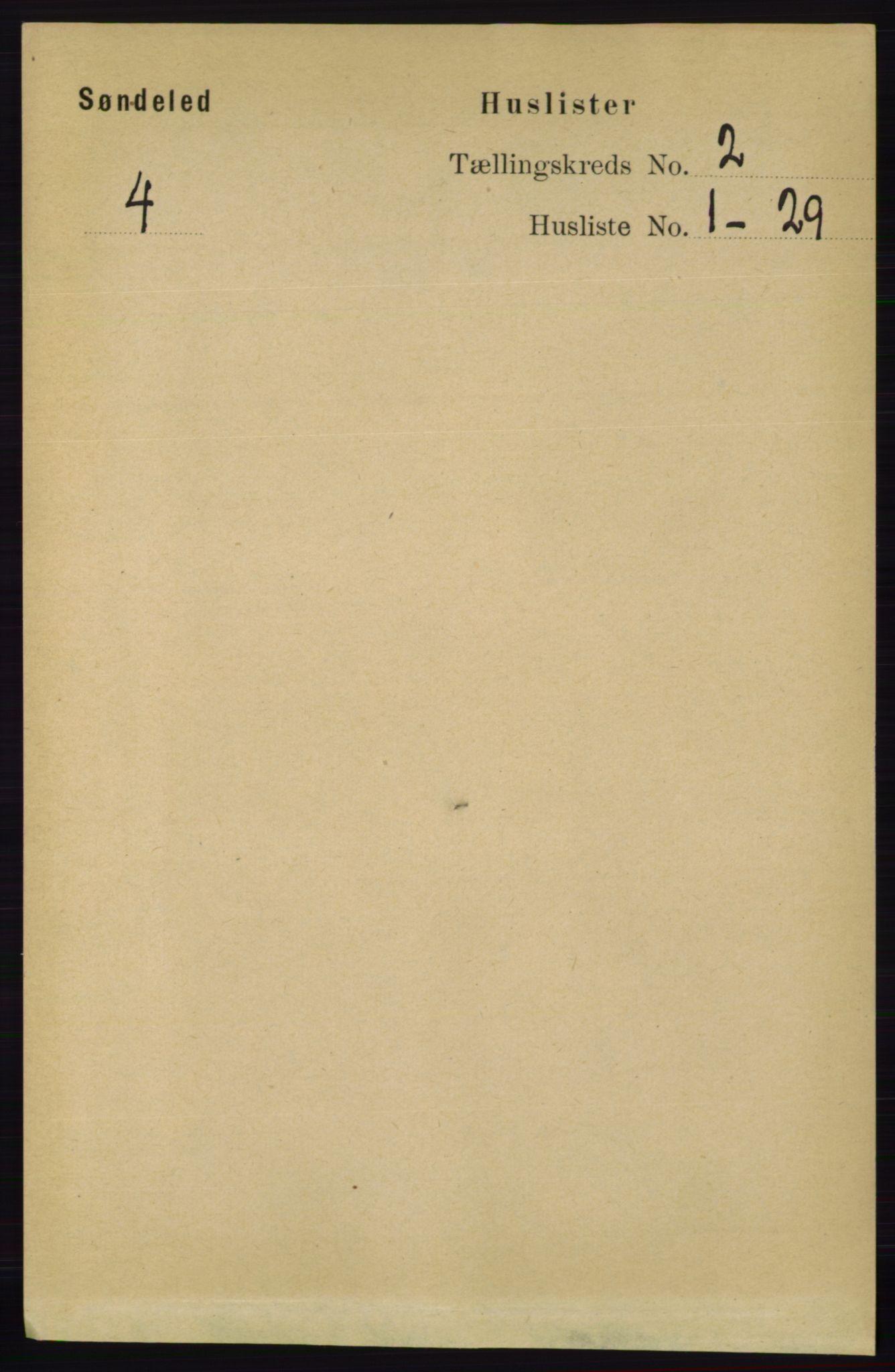 RA, Folketelling 1891 for 0913 Søndeled herred, 1891, s. 350