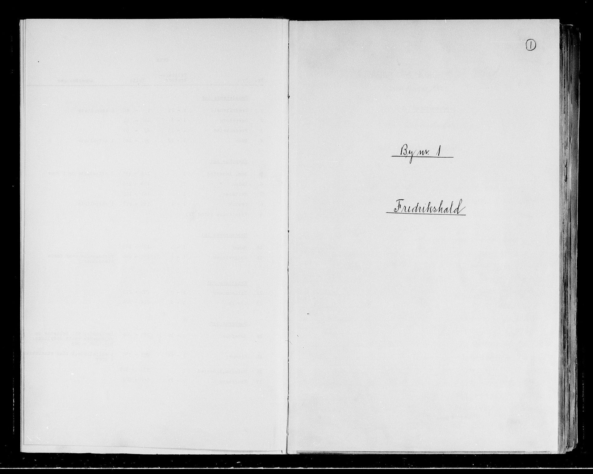 RA, Folketelling 1891 for 0101 Fredrikshald kjøpstad, 1891, s. 1