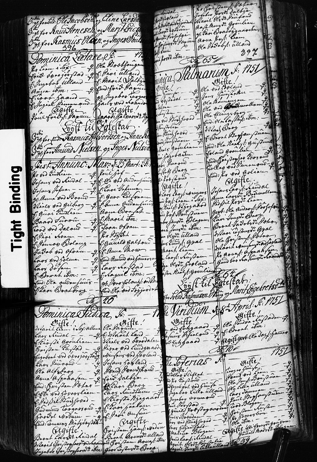 SAH, Fåberg prestekontor, Klokkerbok nr. 2, 1741-1756, s. 396-397