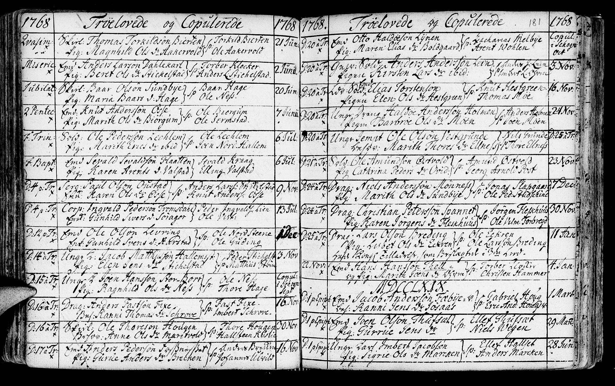 SAT, Ministerialprotokoller, klokkerbøker og fødselsregistre - Nord-Trøndelag, 723/L0231: Ministerialbok nr. 723A02, 1748-1780, s. 181